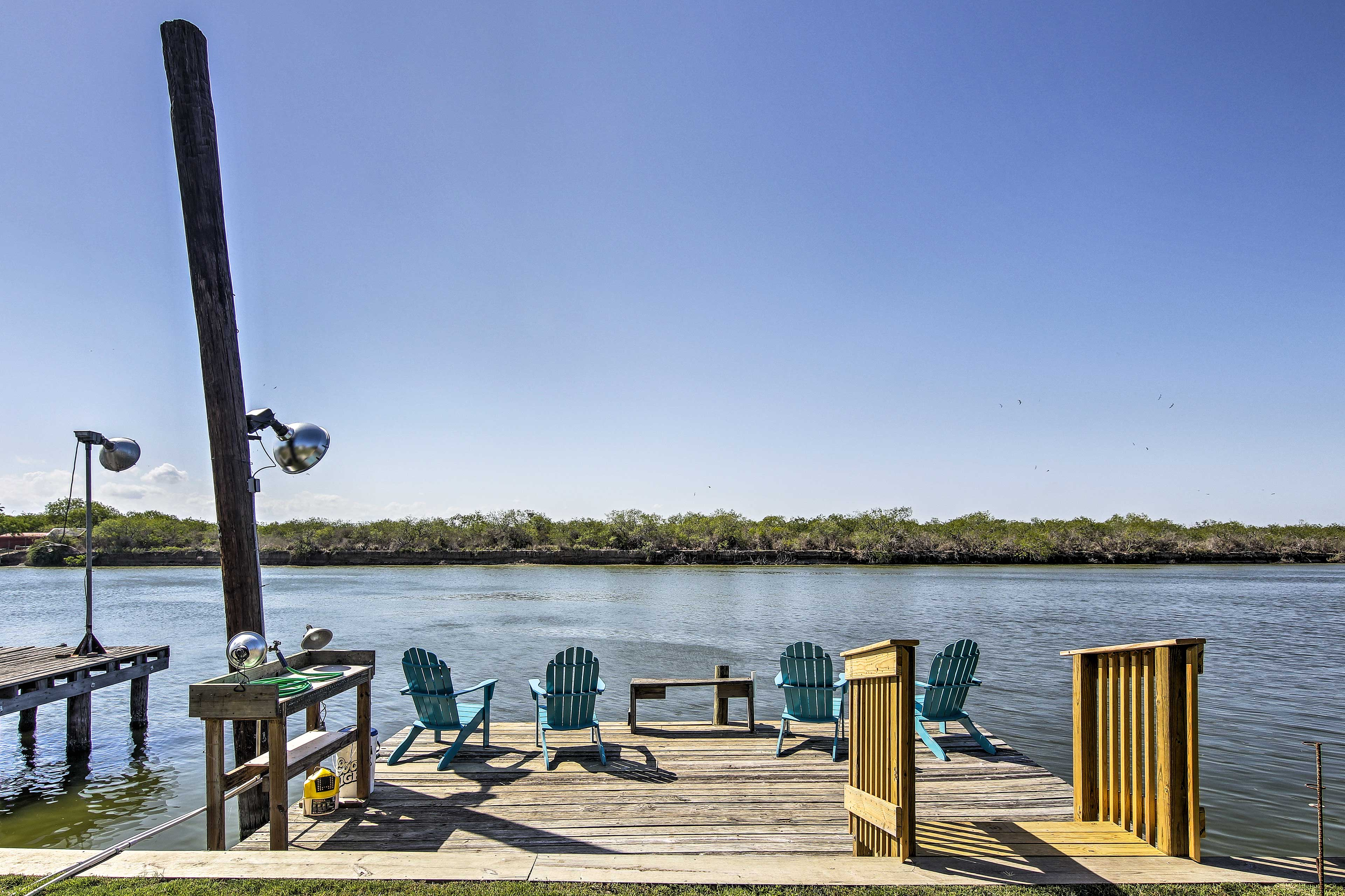 The private dock is a fisherman's dream.