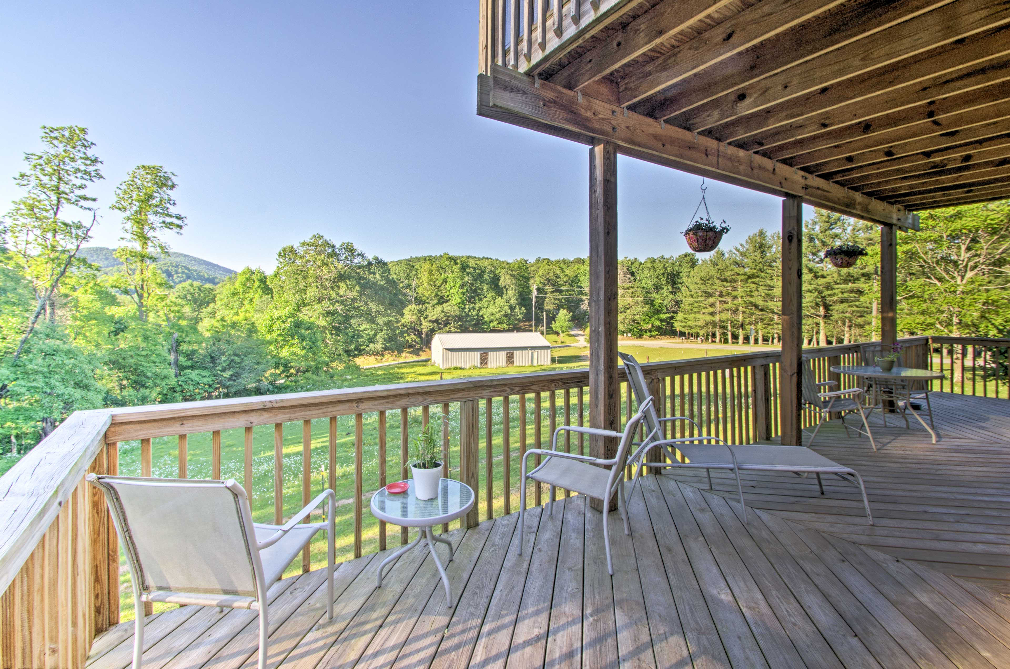 Enjoy the views from your spacious, furnished deck.