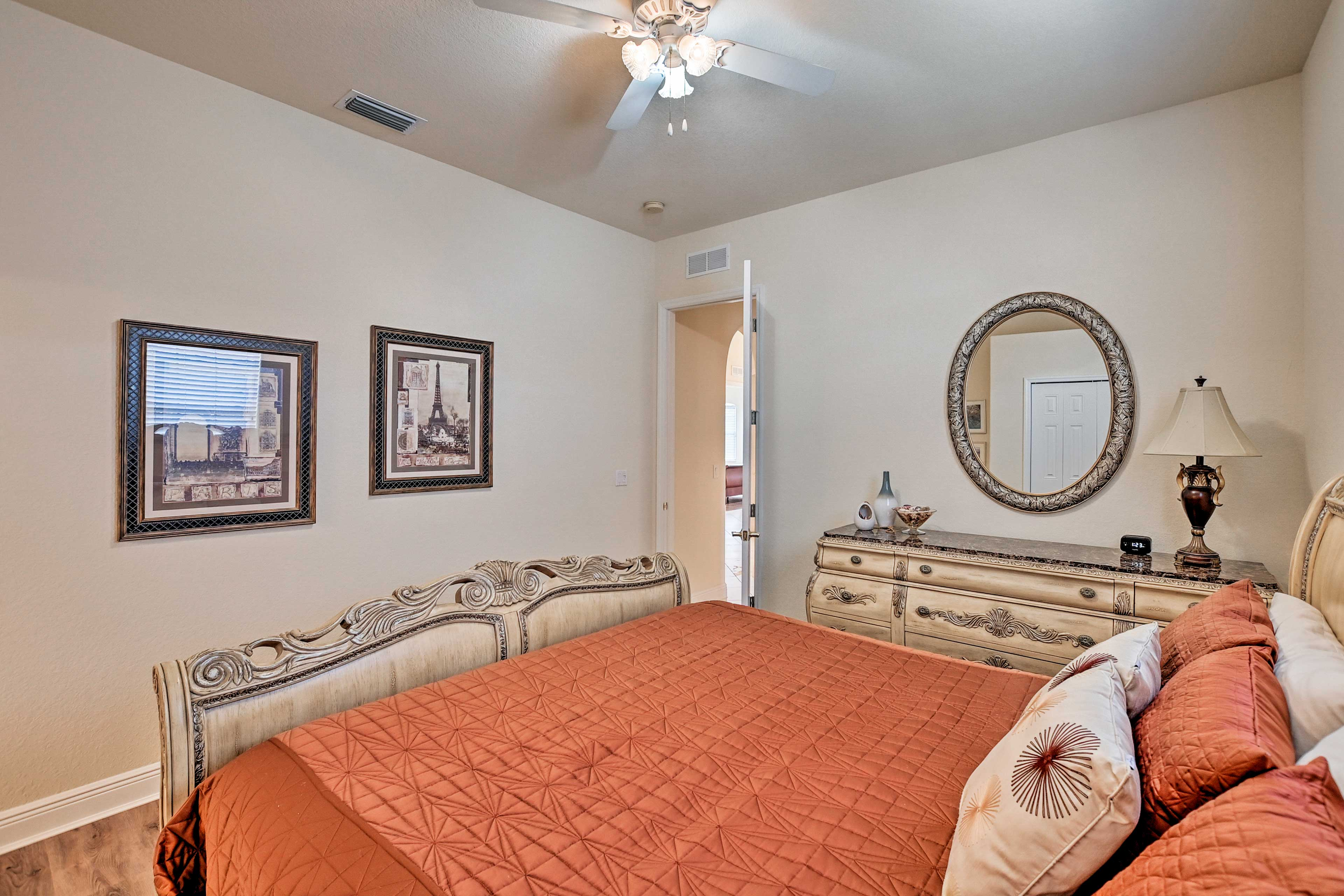 Rest easily in the comfort of this bedroom.
