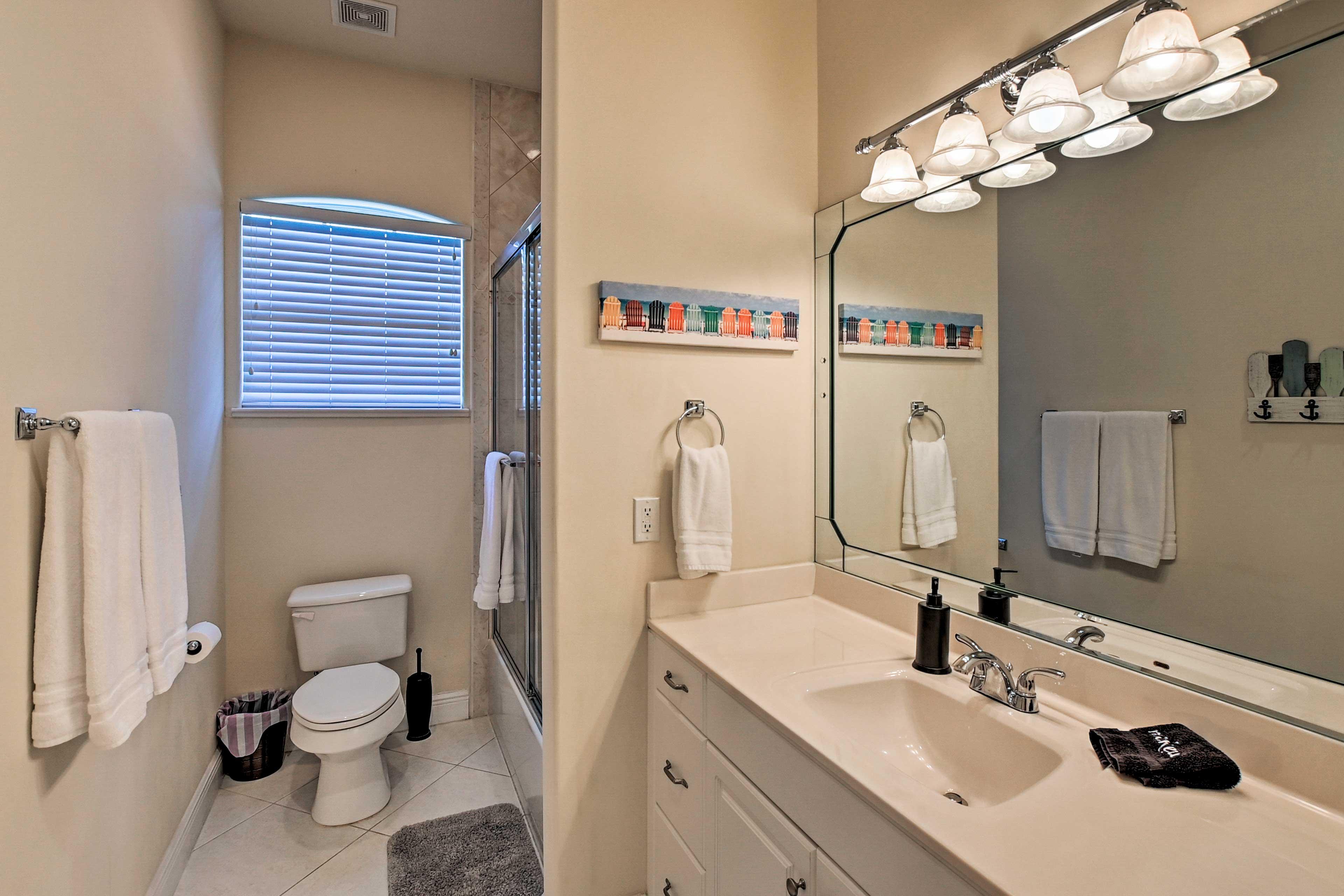 Clean up in the second en-suite bathroom.