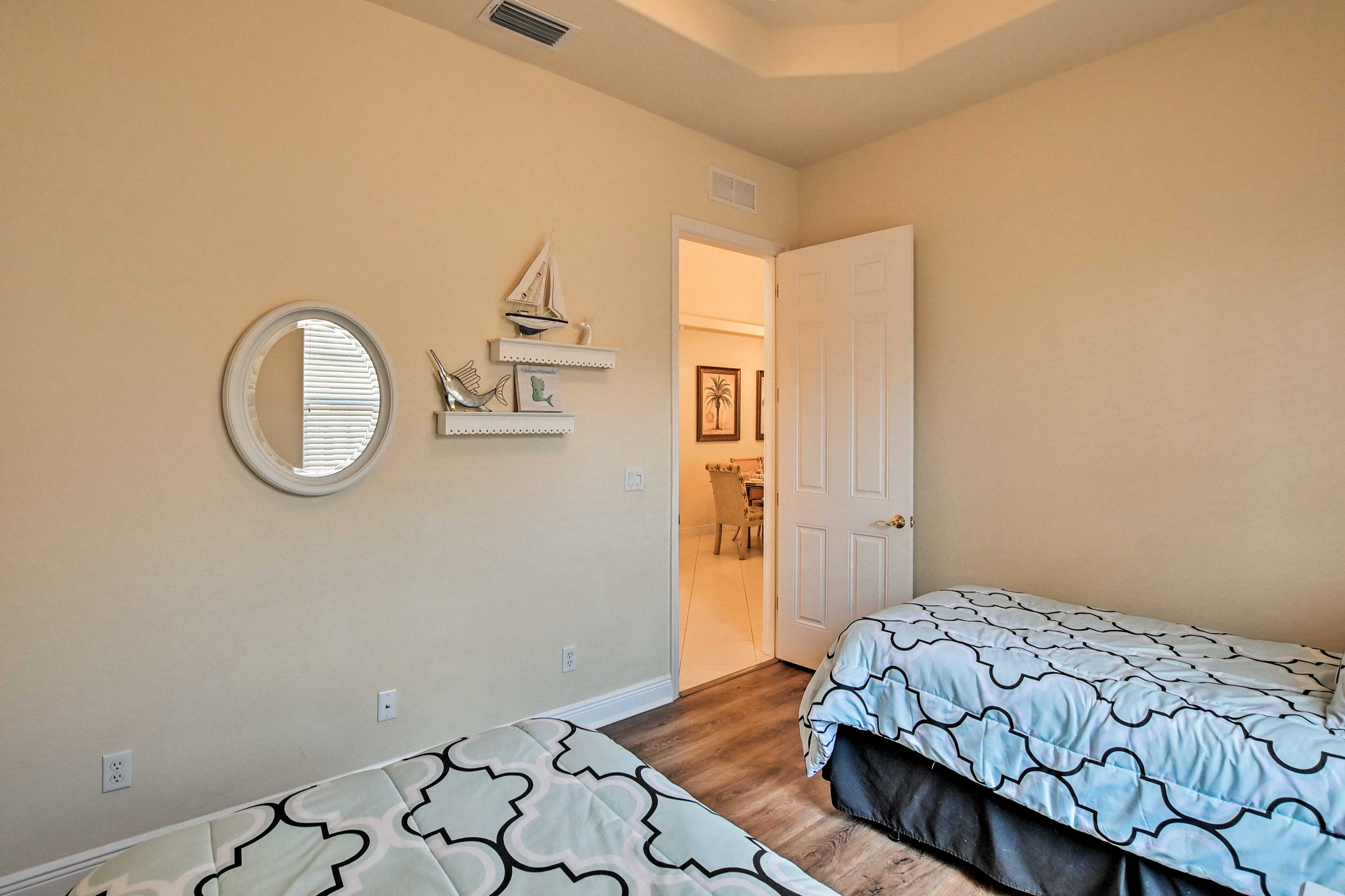 Kids will love sharing this bedroom.