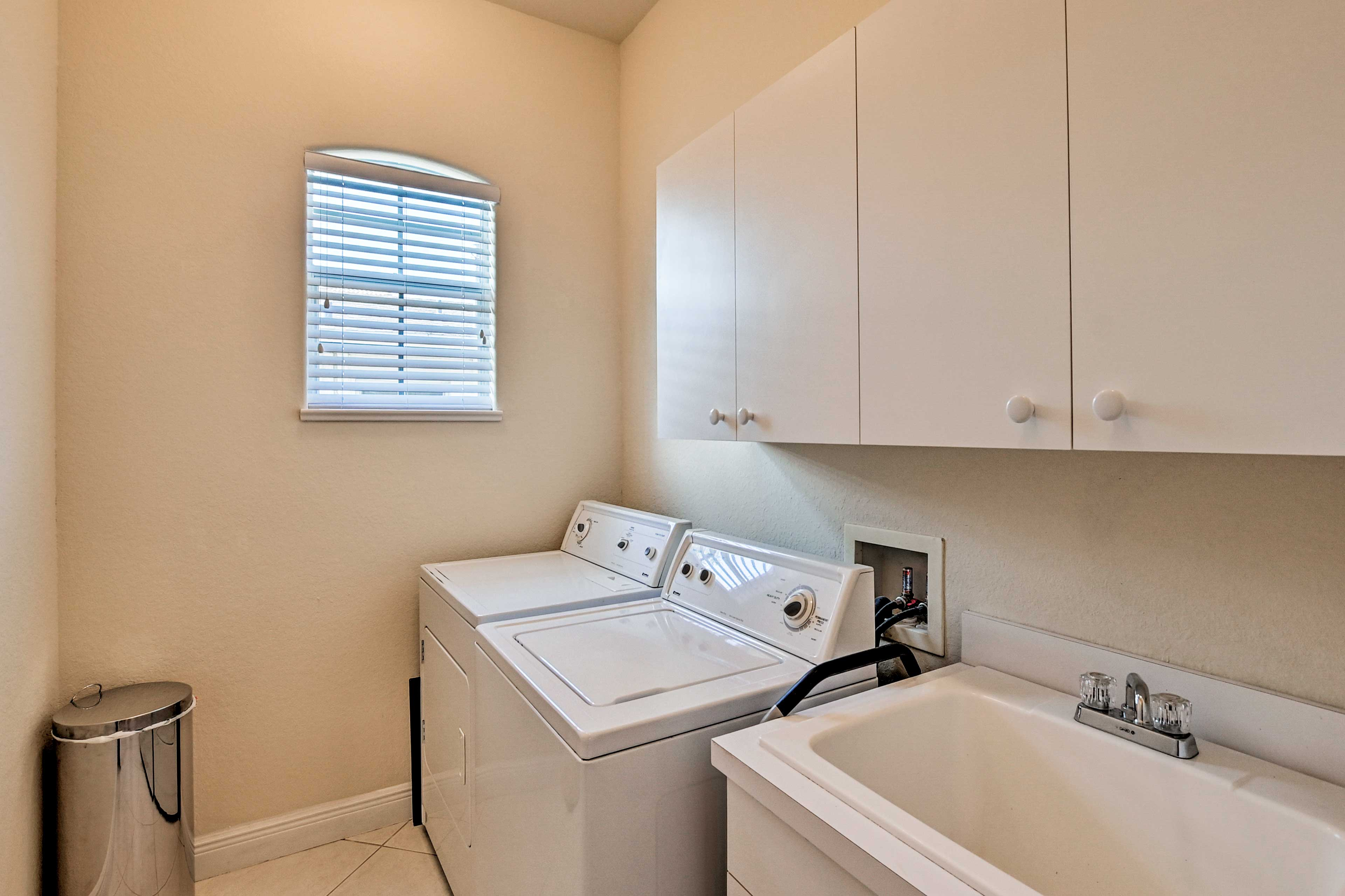 In-unit laundry machines ensure you don't go home with dirty clothes.