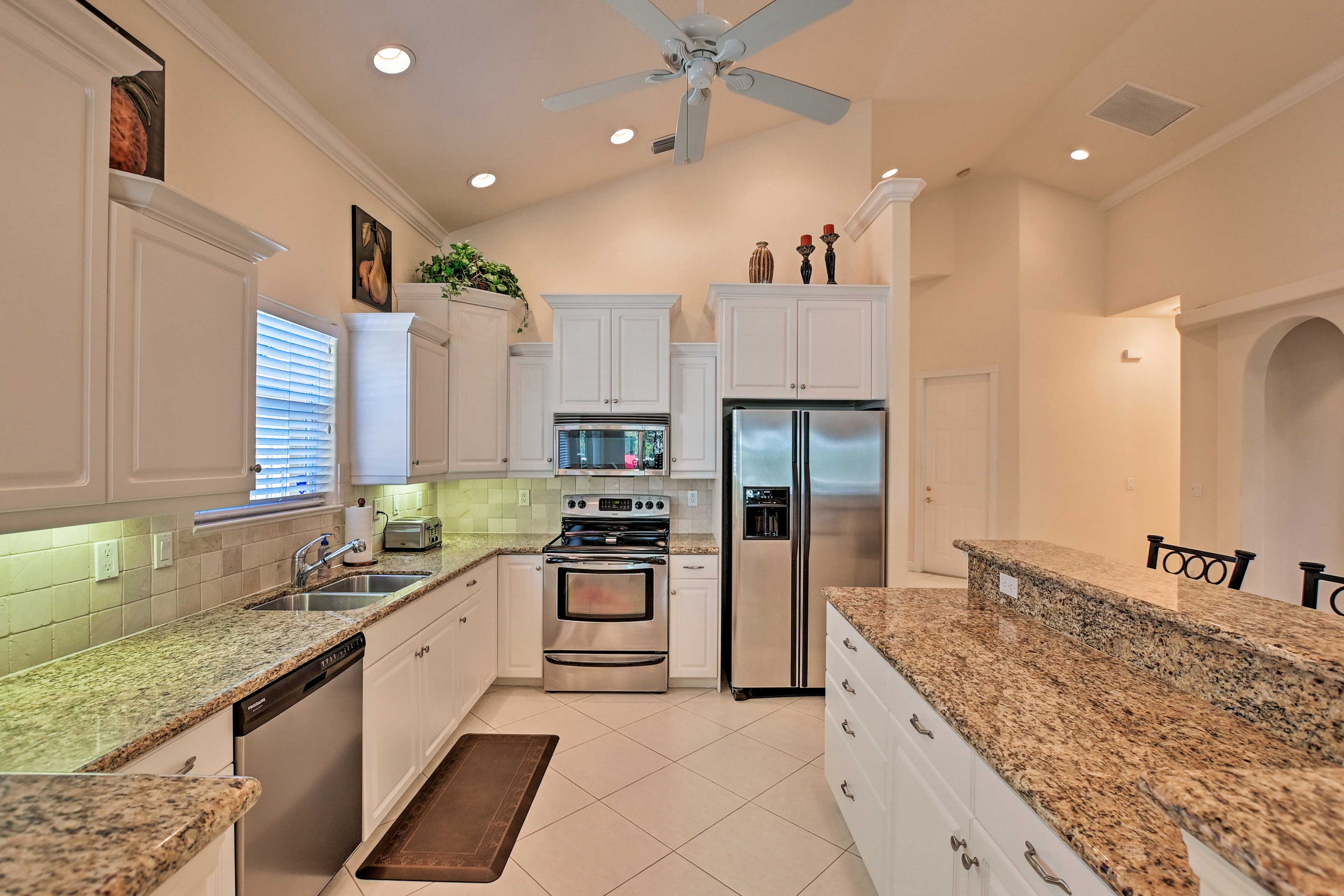 Prepare your favorite recipes in this spacious kitchen.