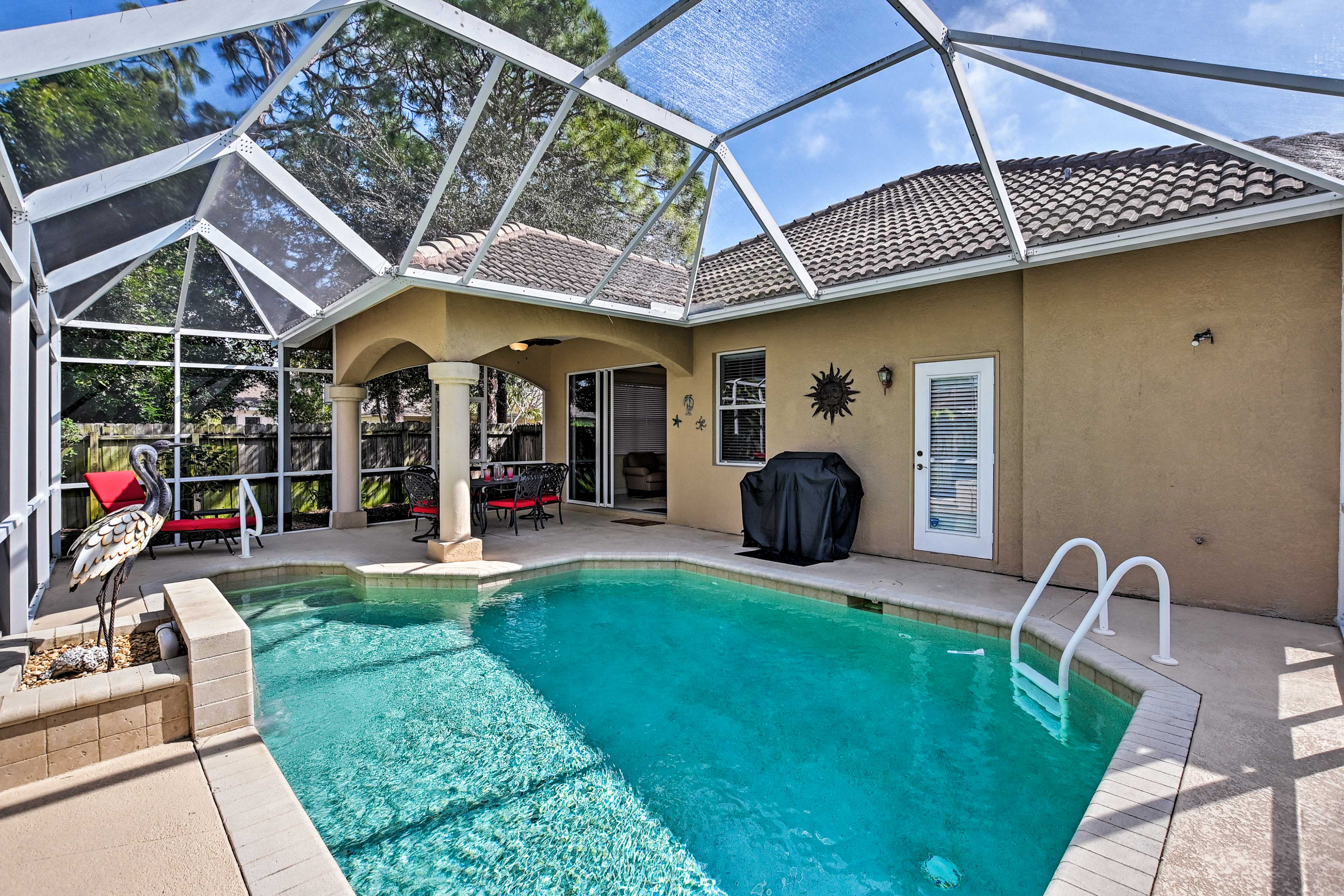 You'll love having your own private heated saltwater pool.