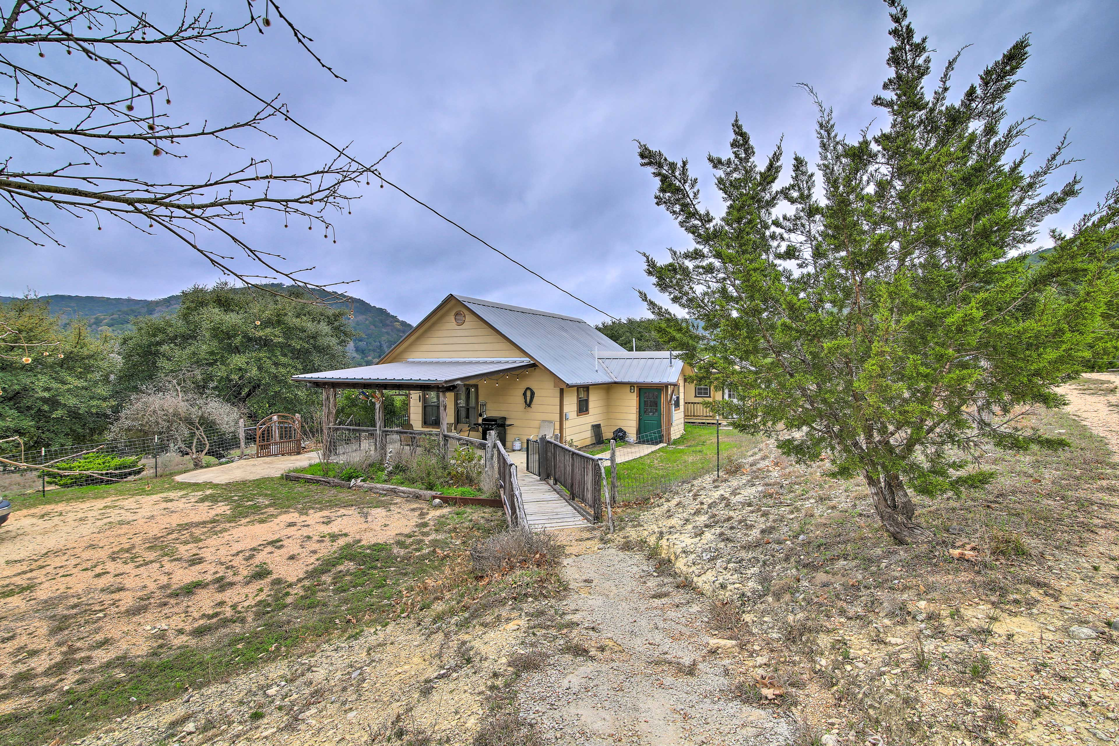 Walk down to the path from your charming cottage home base!