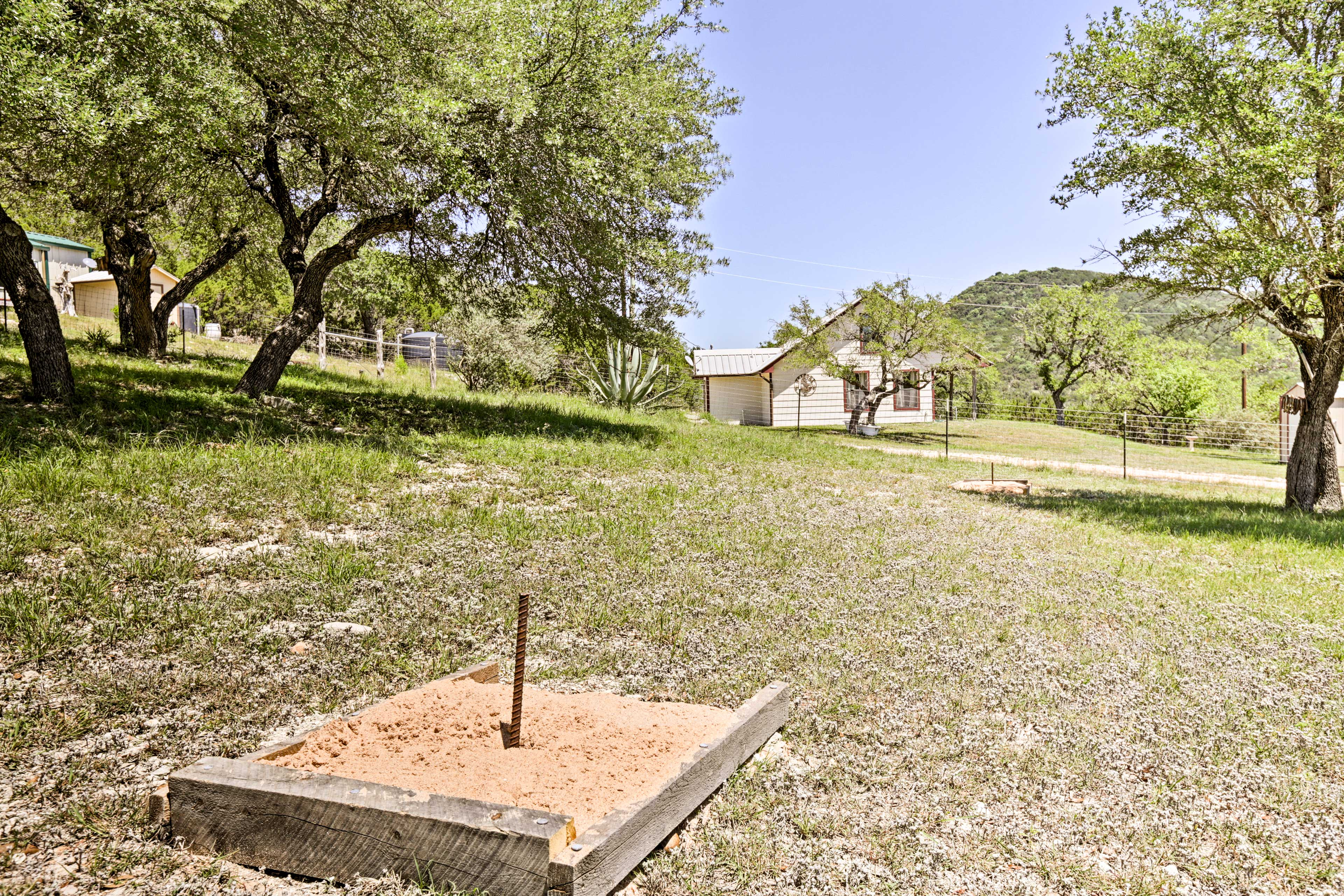 Get your competitive juices flowing with a game of horseshoes.