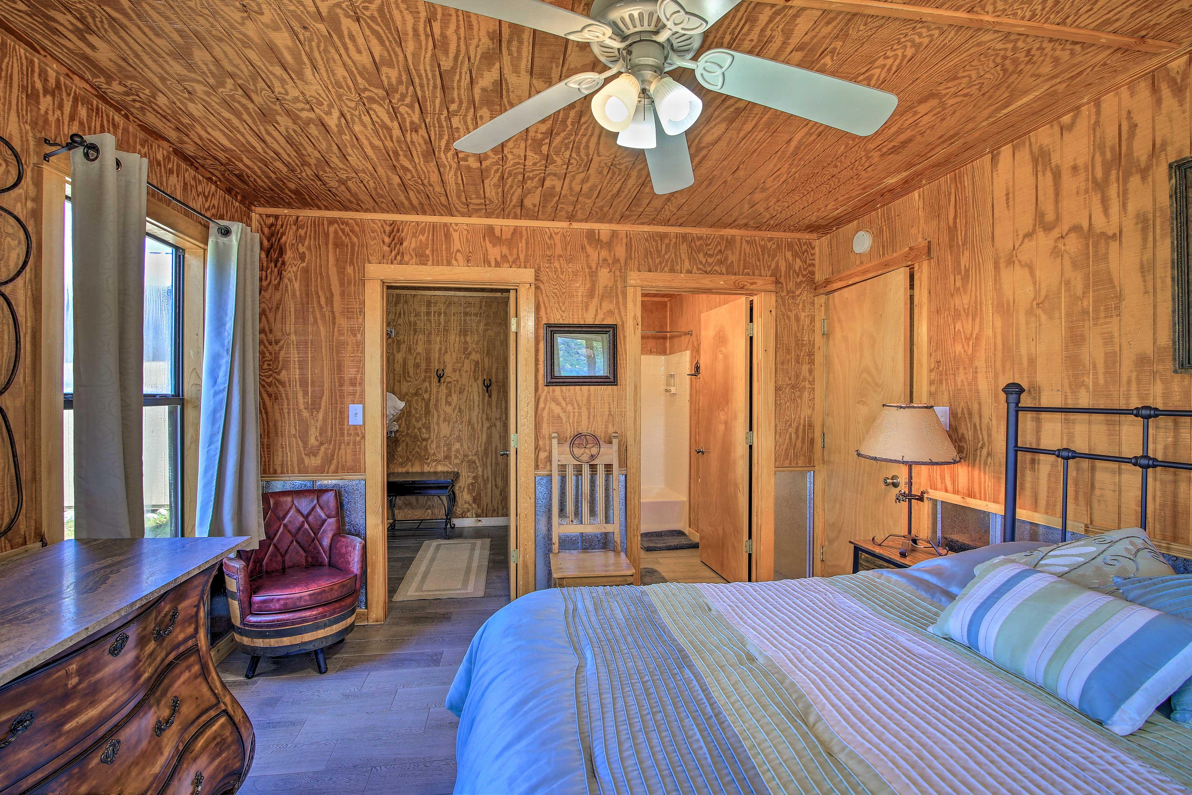 Enjoy easy access to the en-suite bathroom.
