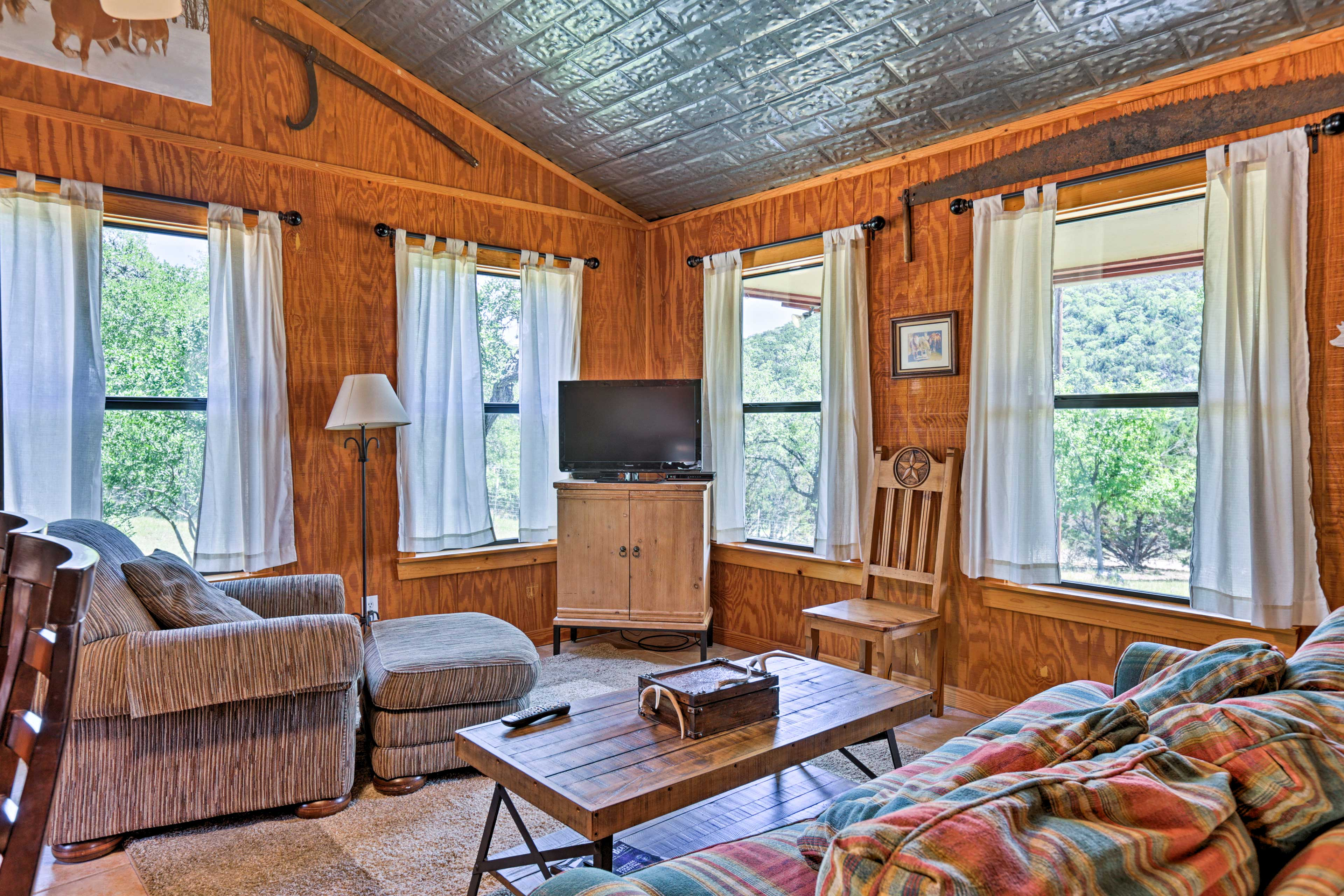Each cottage has it's own flat-screen cable TV.