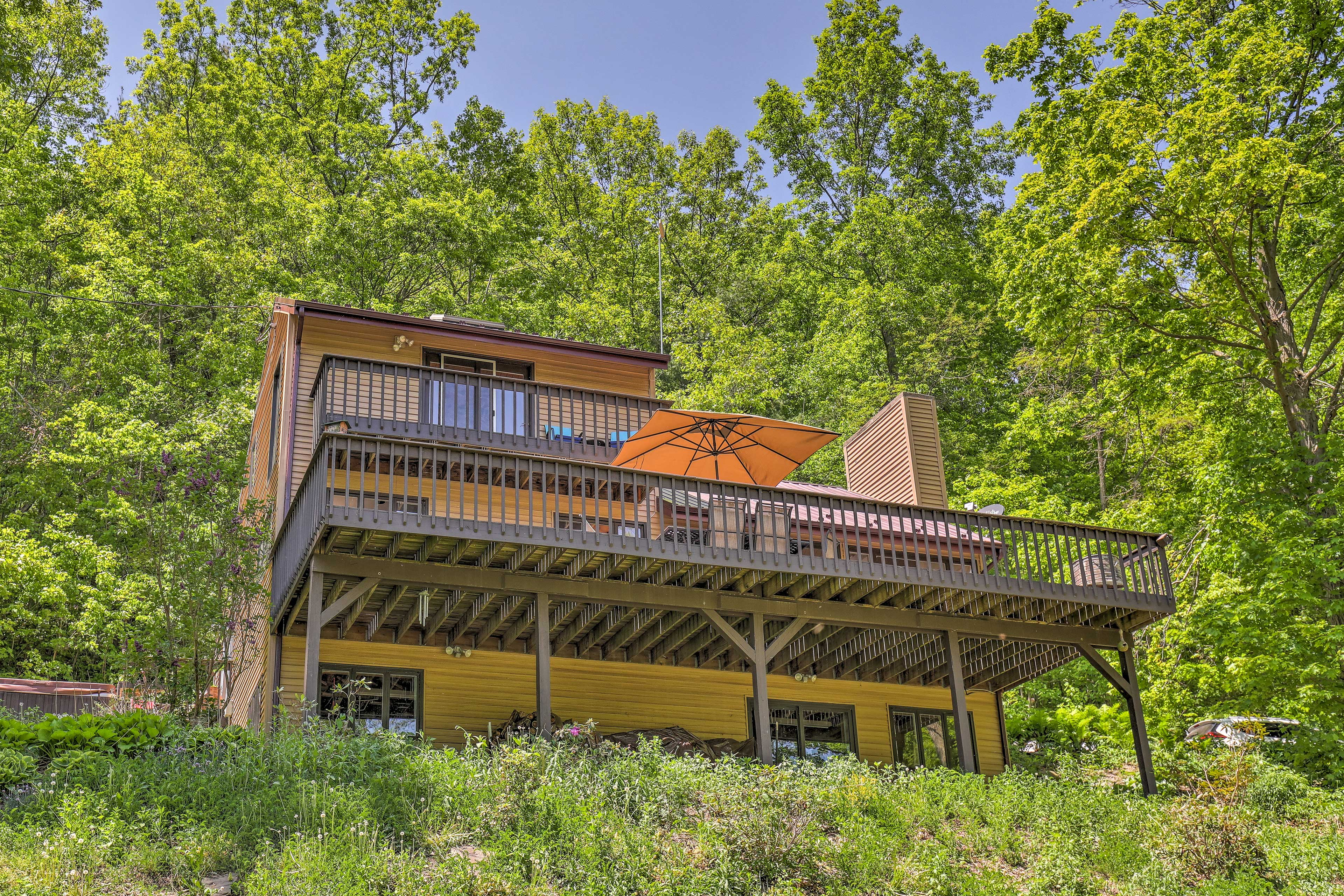 Experience the Finger Lakes at this 2-bed, 2-bath Naples vacation rental home.