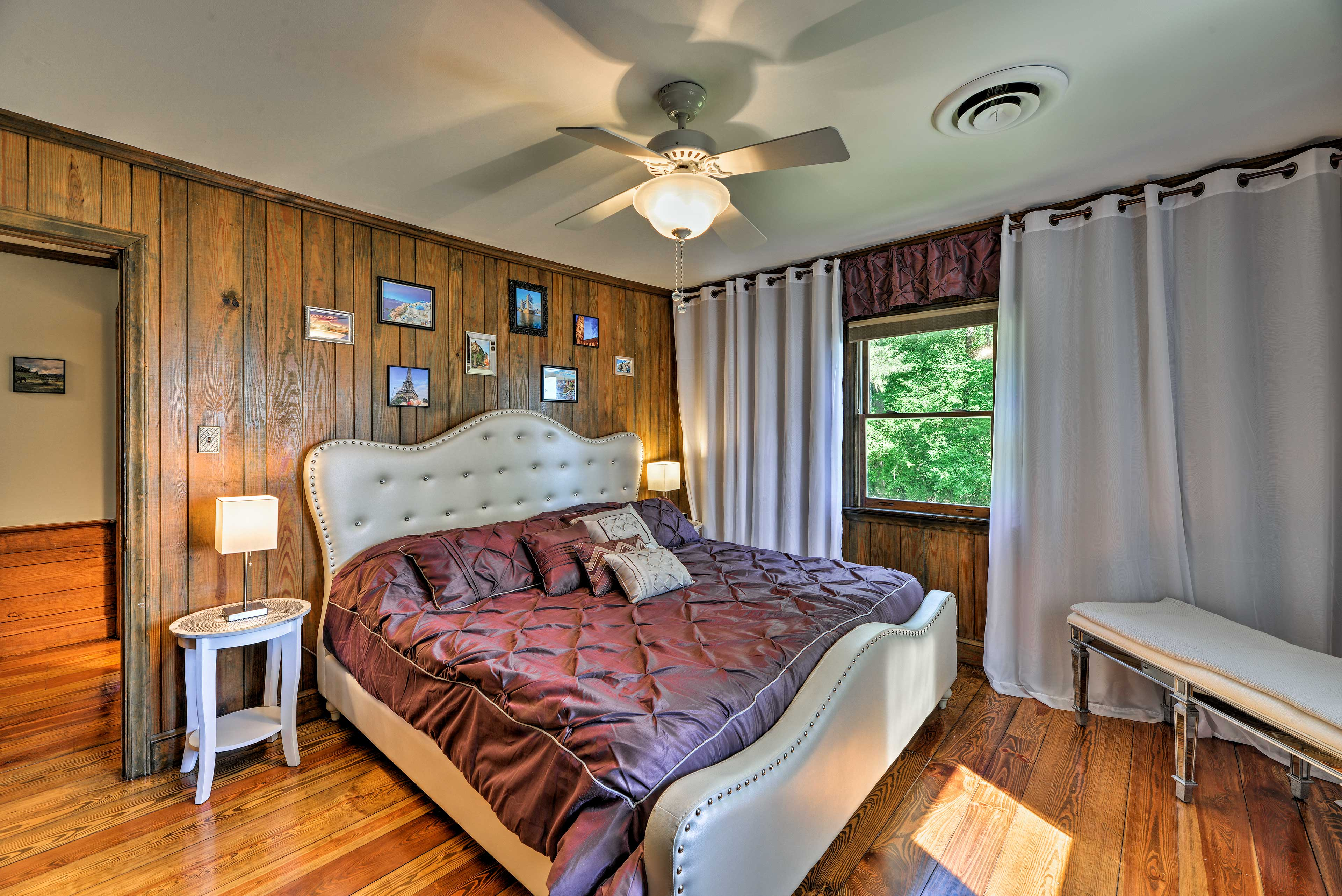 Two more guests will sleep well in this king bed.