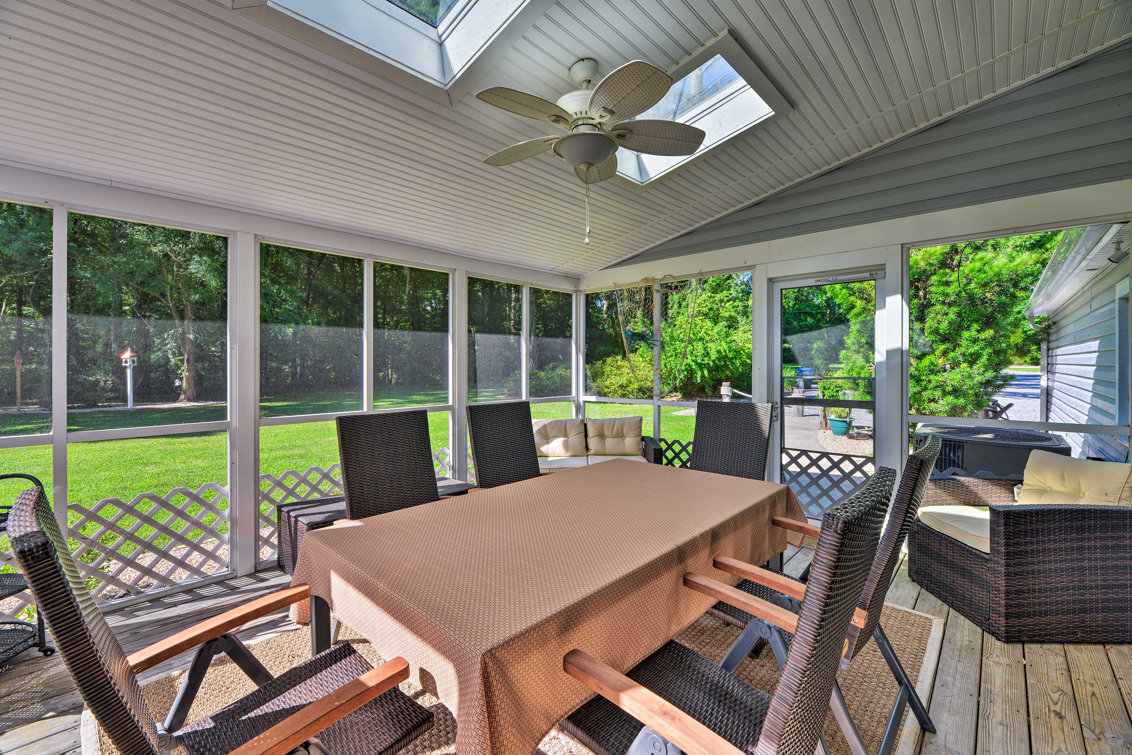 Enjoy breakfast and sip your morning coffee out on the porch.
