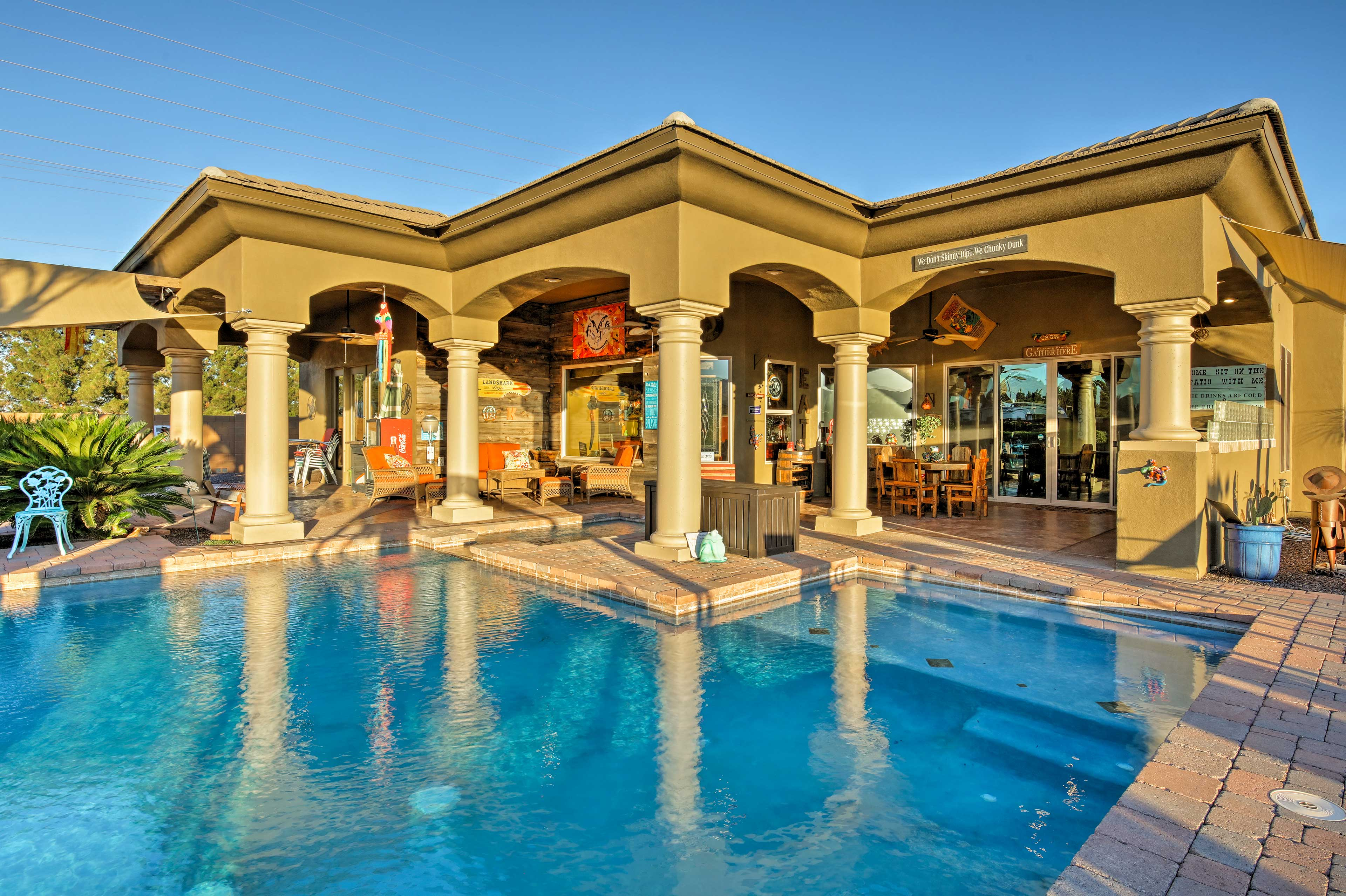 Experience Litchfield Park from this high-end vacation rental house.