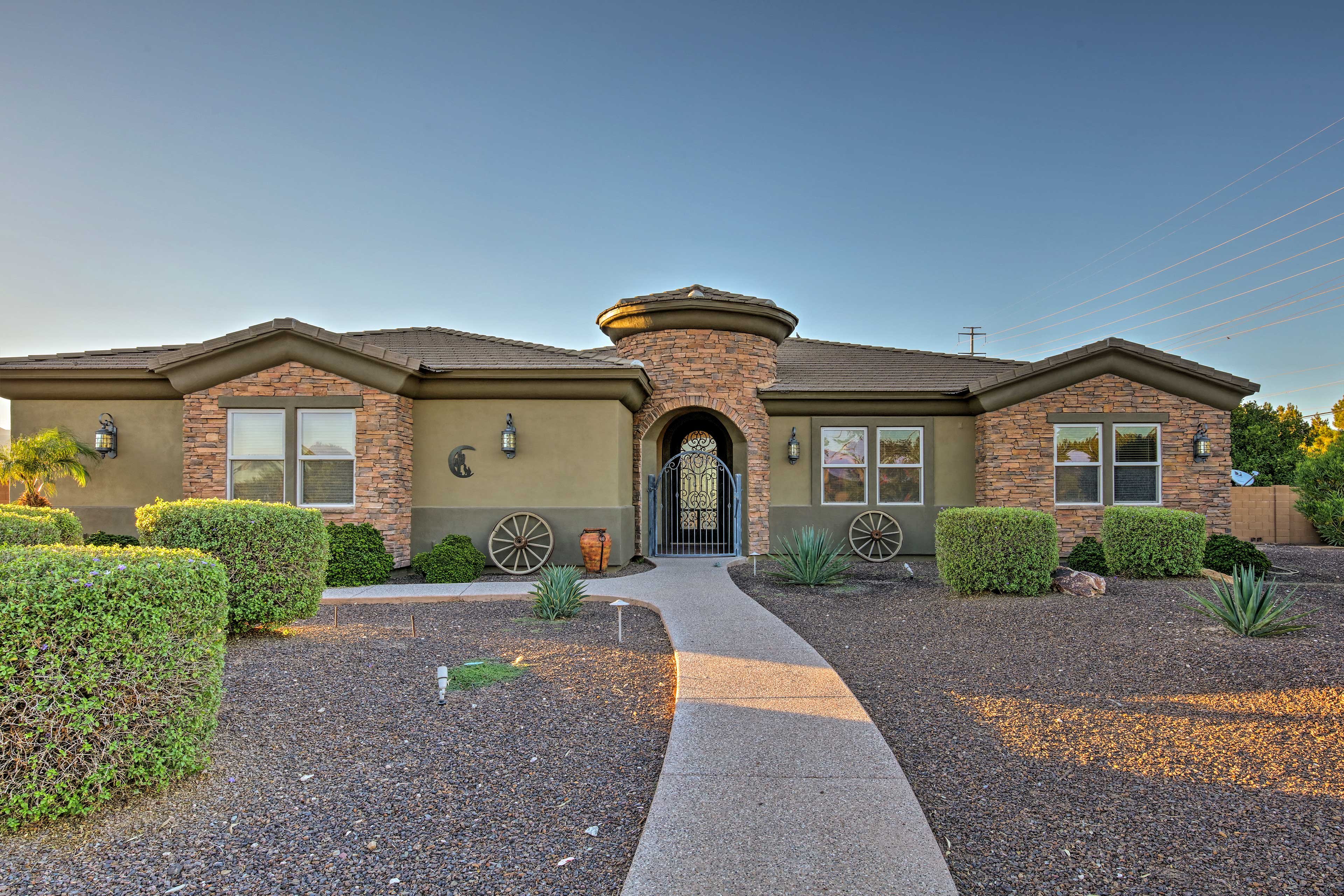 This 4-bedroom, 3.5-bath accommodates 8 with space for 1 more.