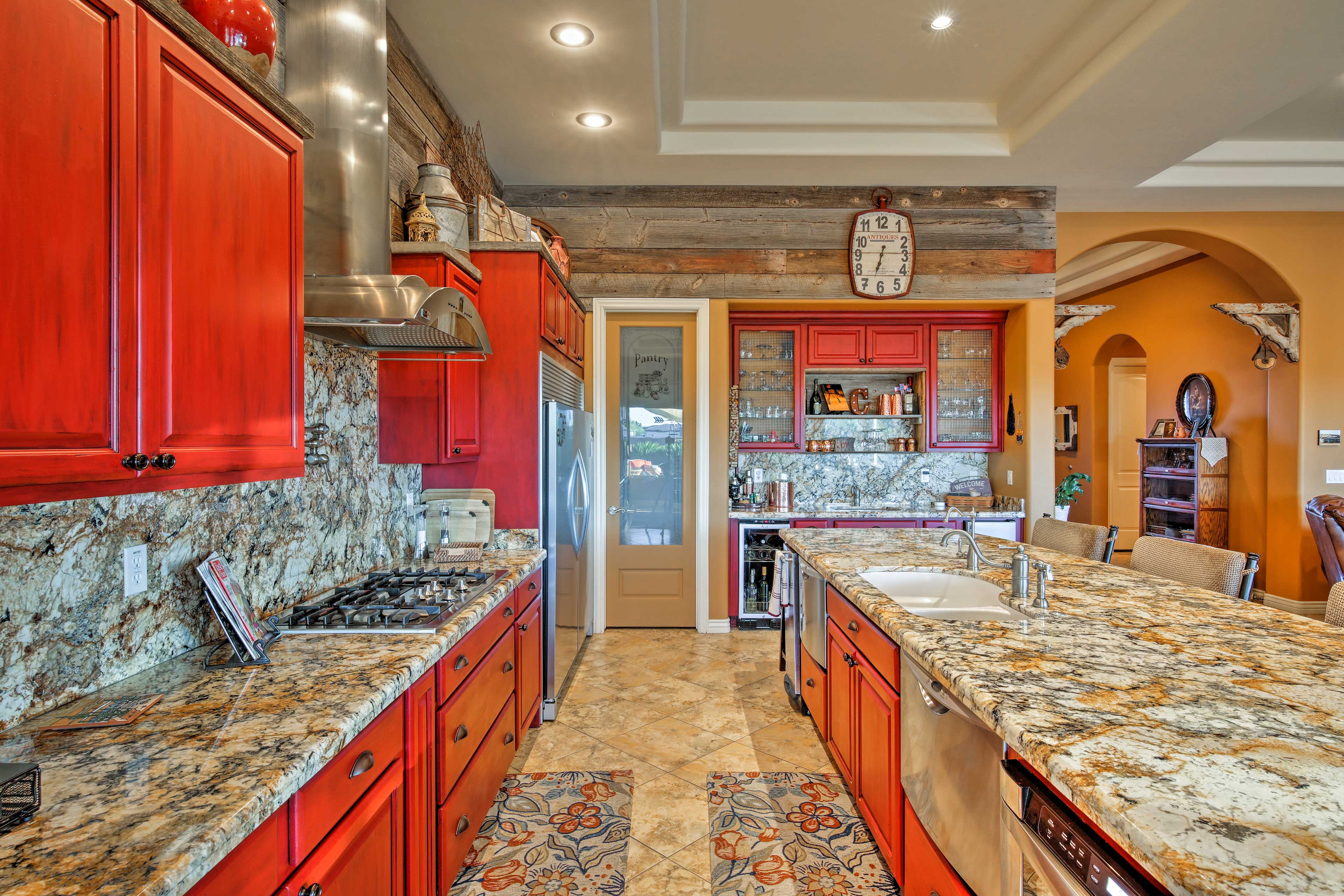 Prepare home-cooked meals on the granite counters in the fully equipped kitchen.