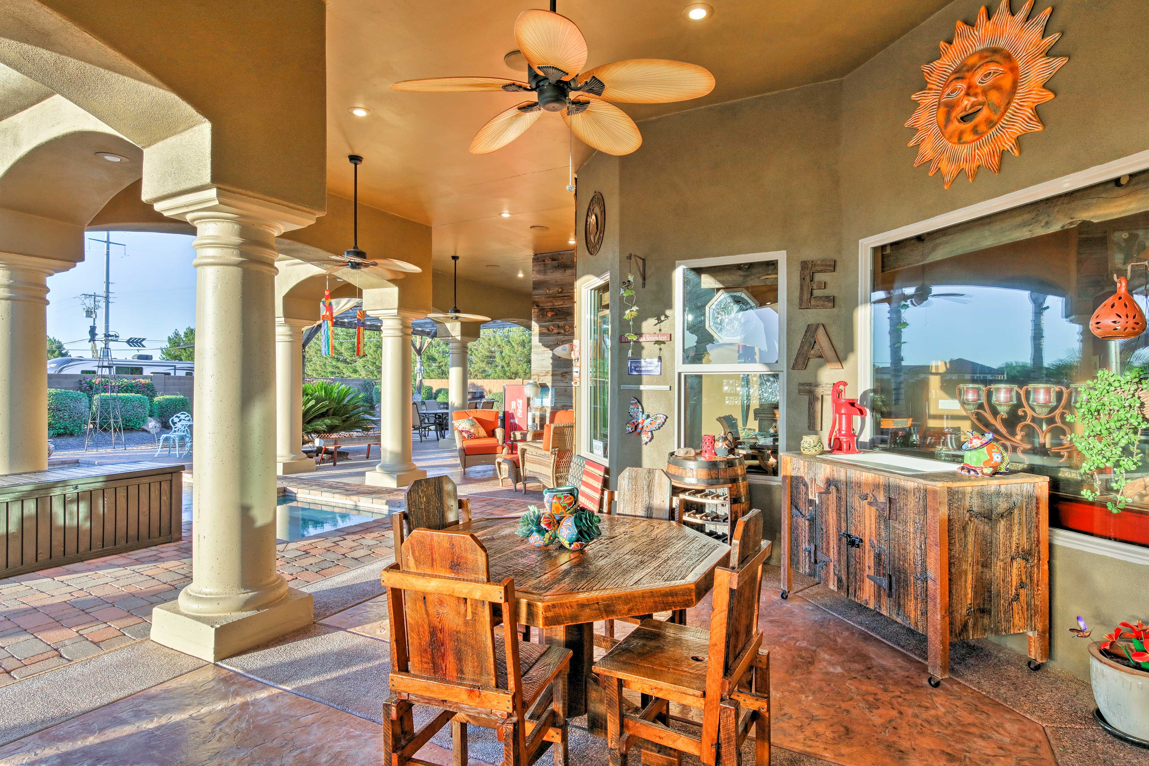 Enjoy the Arizona weather in your elegant outdoor living space.