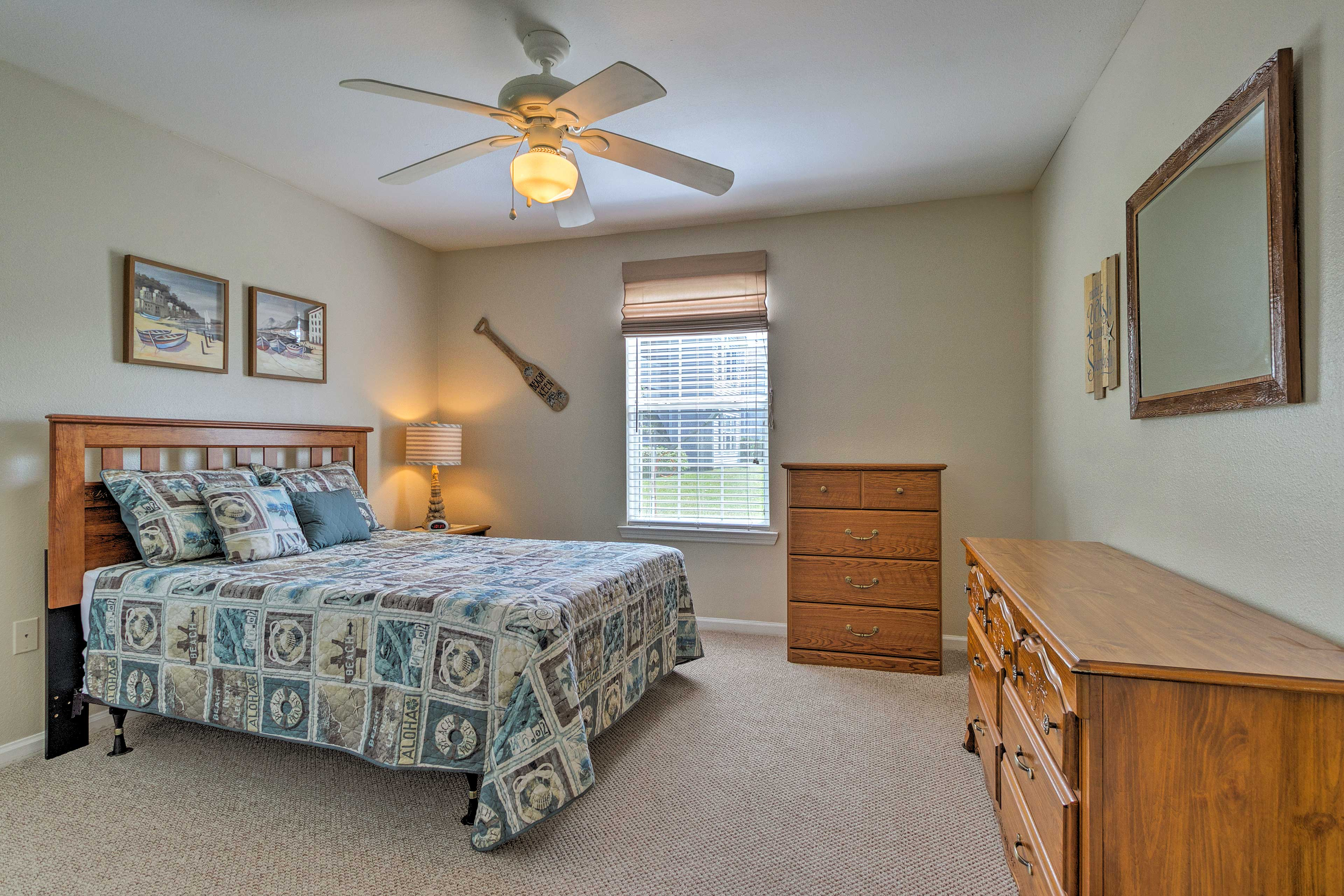 Relax on the comfortable queen bed in the second bedroom.