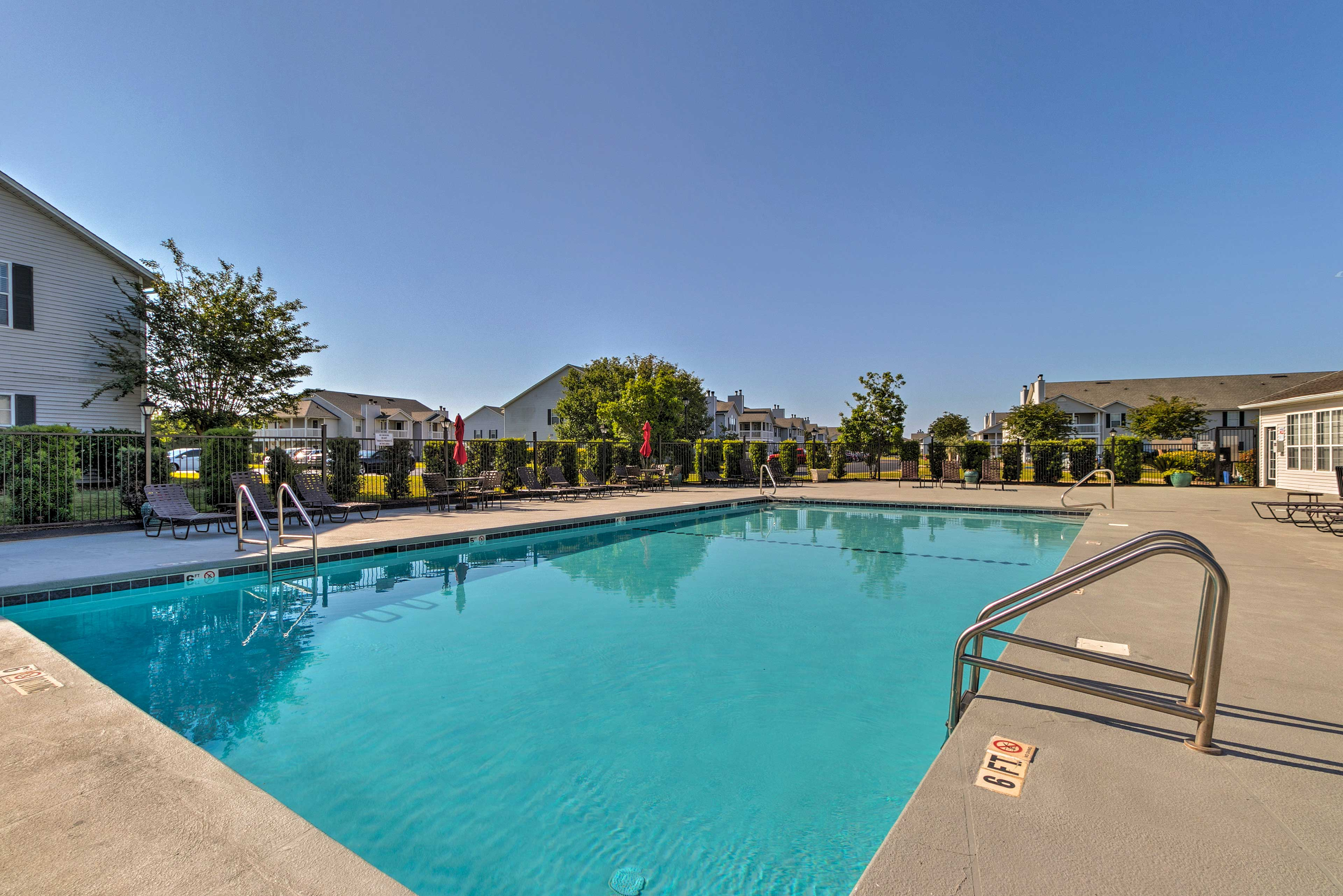 Beat the heat with the community pool.