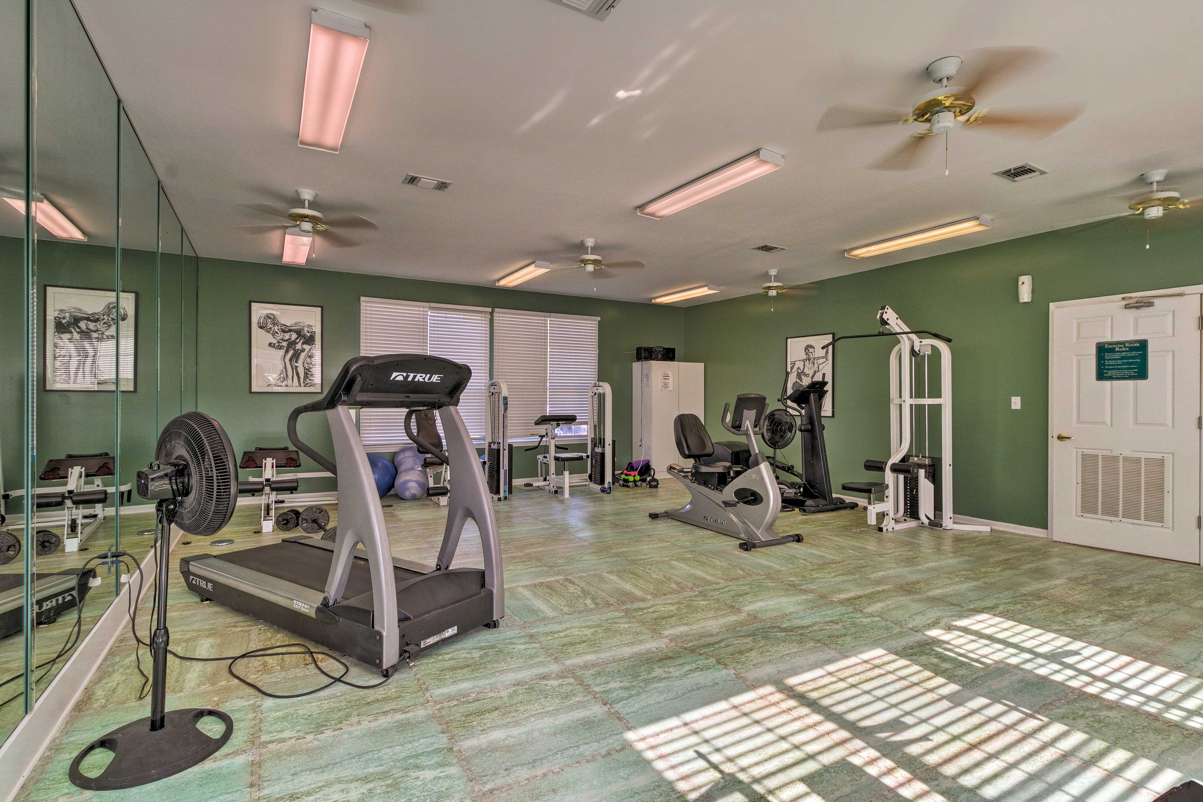 Start your day on a healthy note in the fitness center.