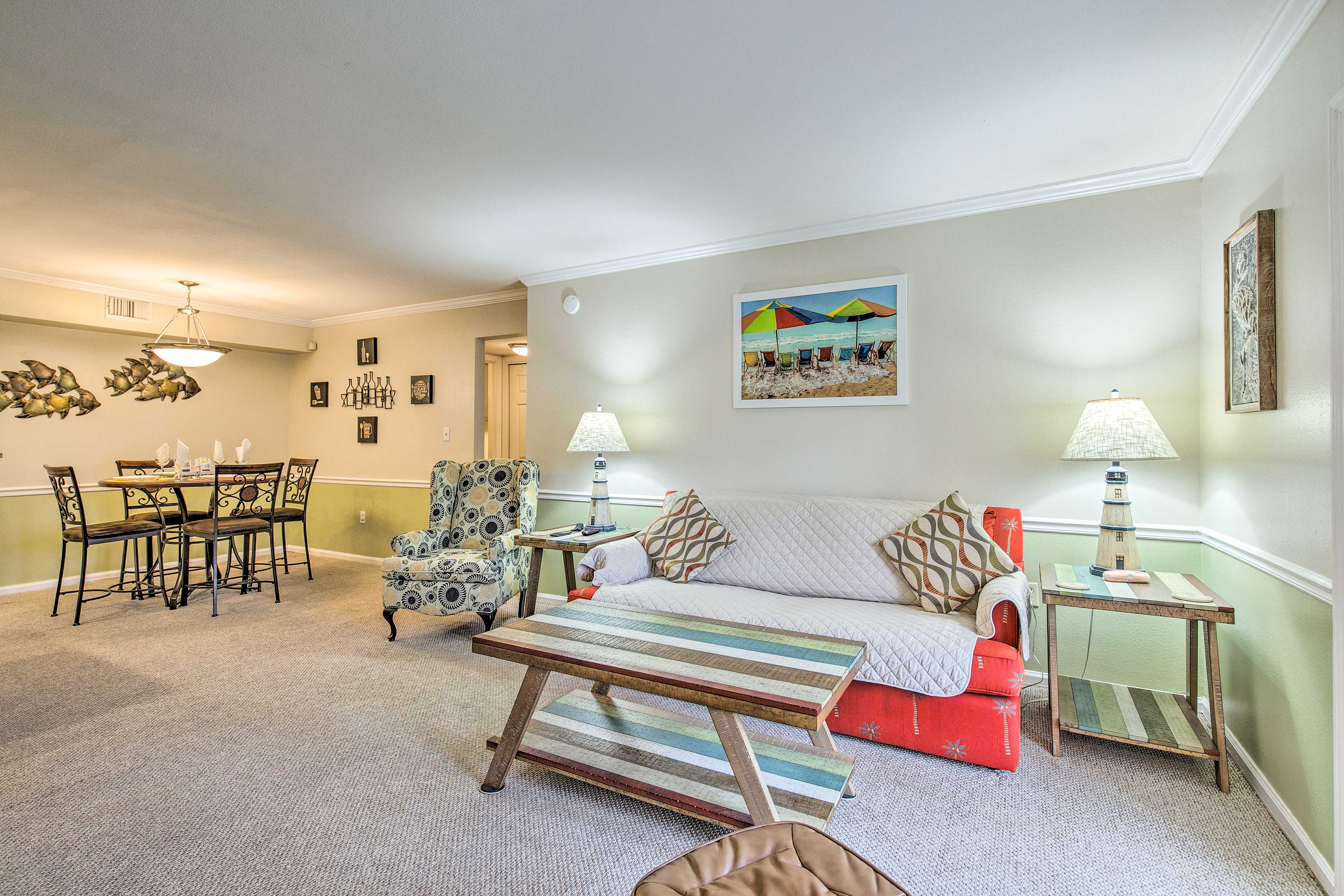 You'll love the open-concept layout of this unit.