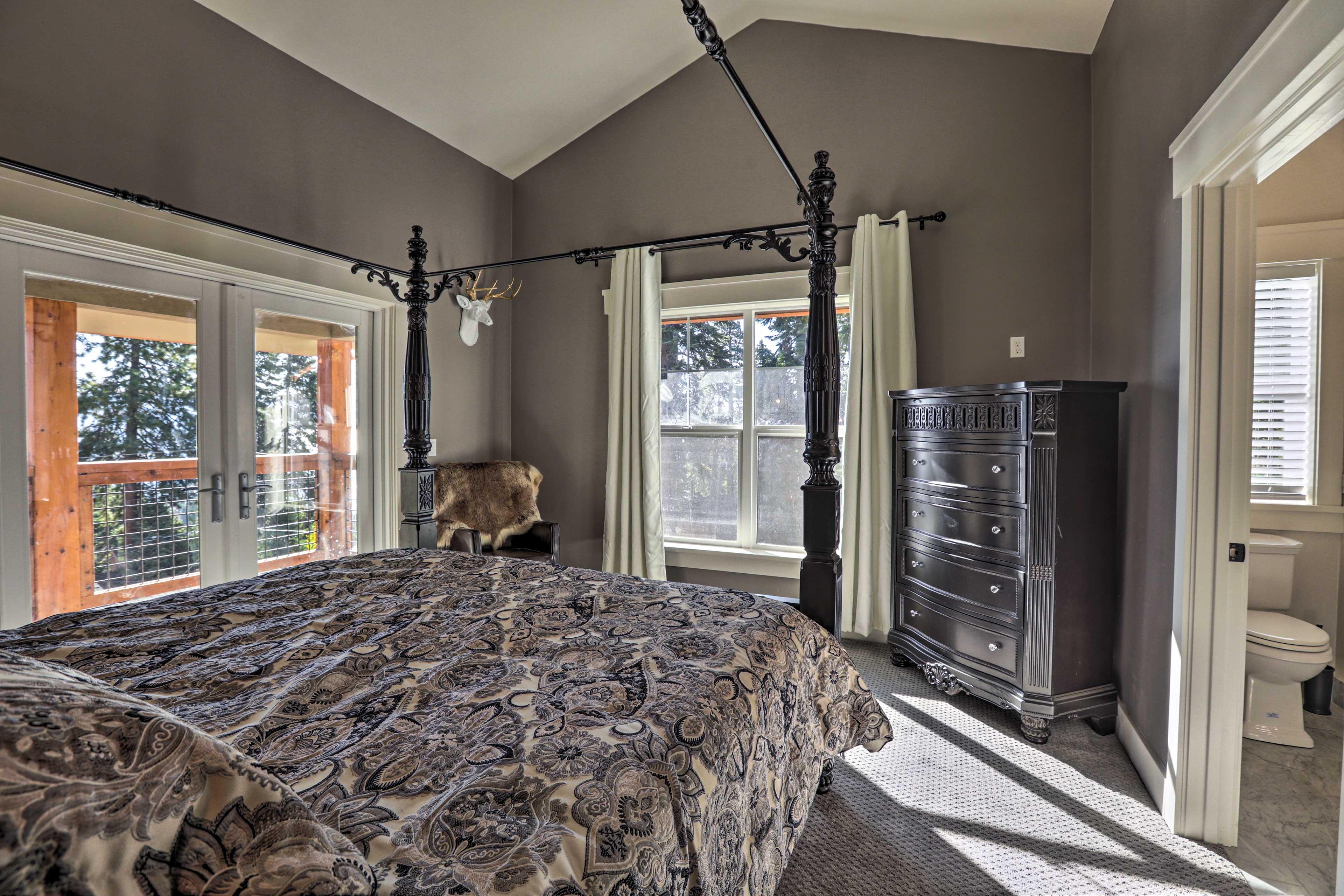 The corner suite affords plenty of natural light.
