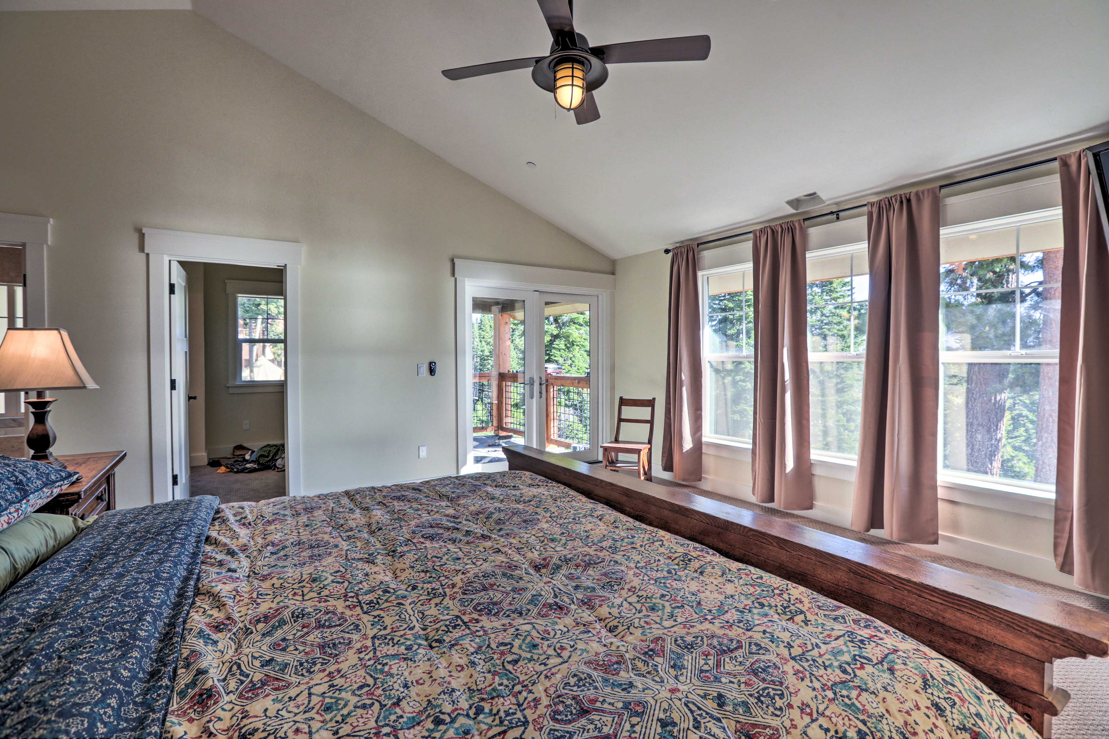 This bedroom also shares balcony access.