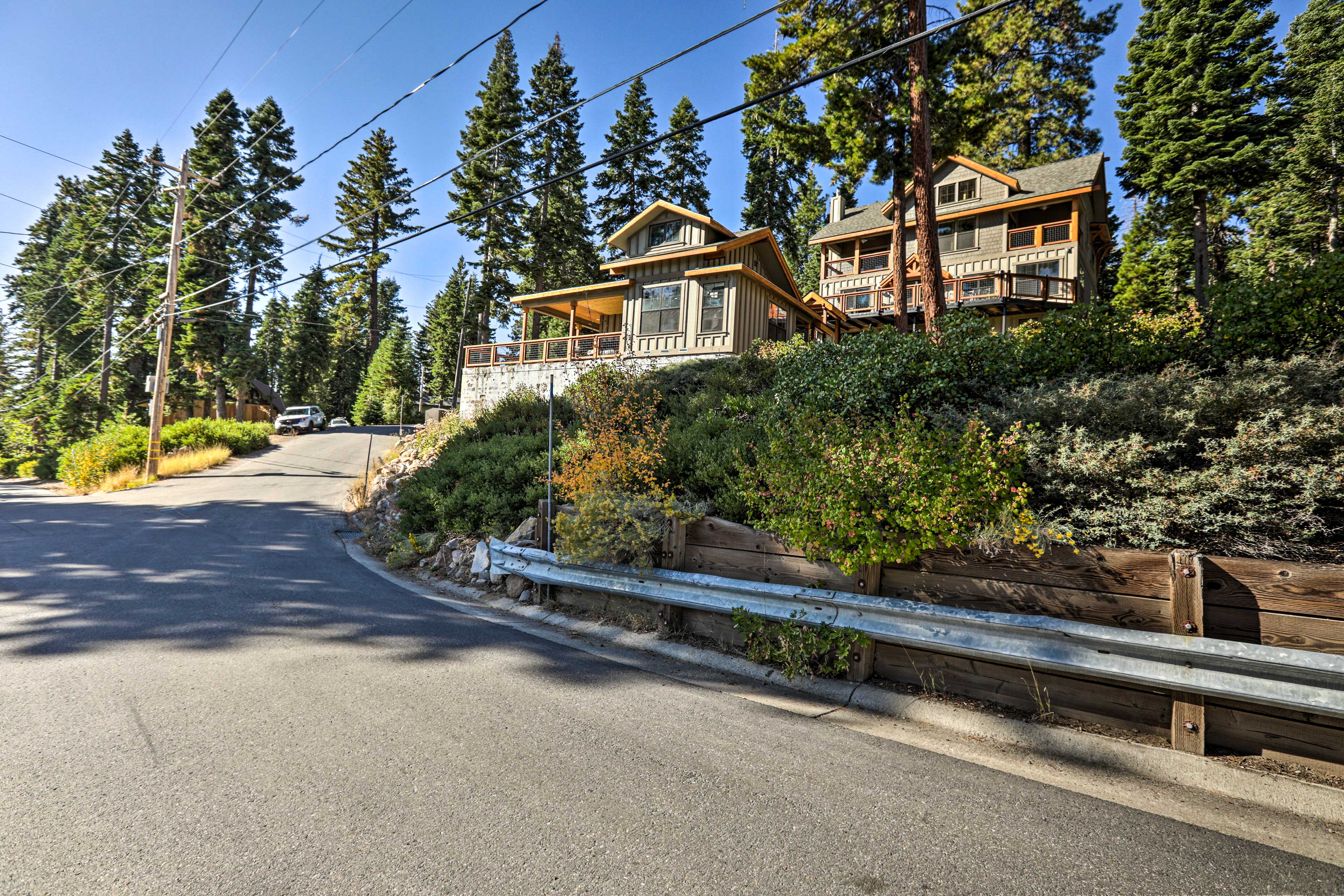 The Carnelian Bay home is ideally located for Tahoe adventures.