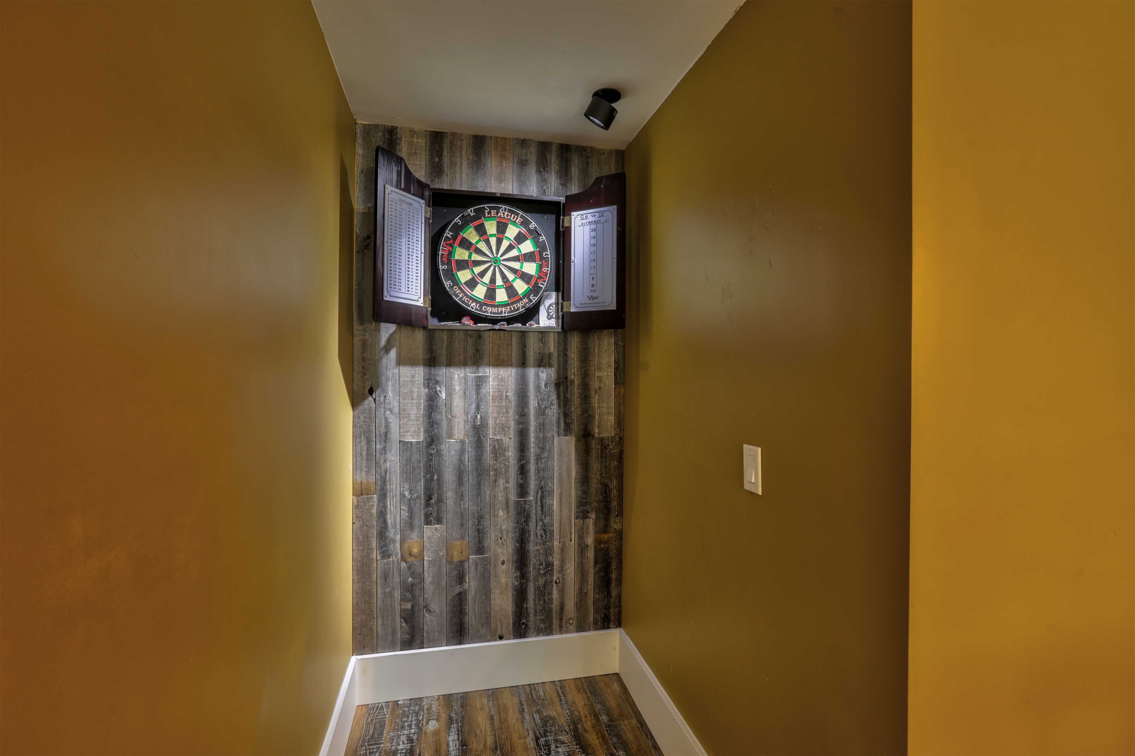 See if you can hit a bulls-eye on the dart board!