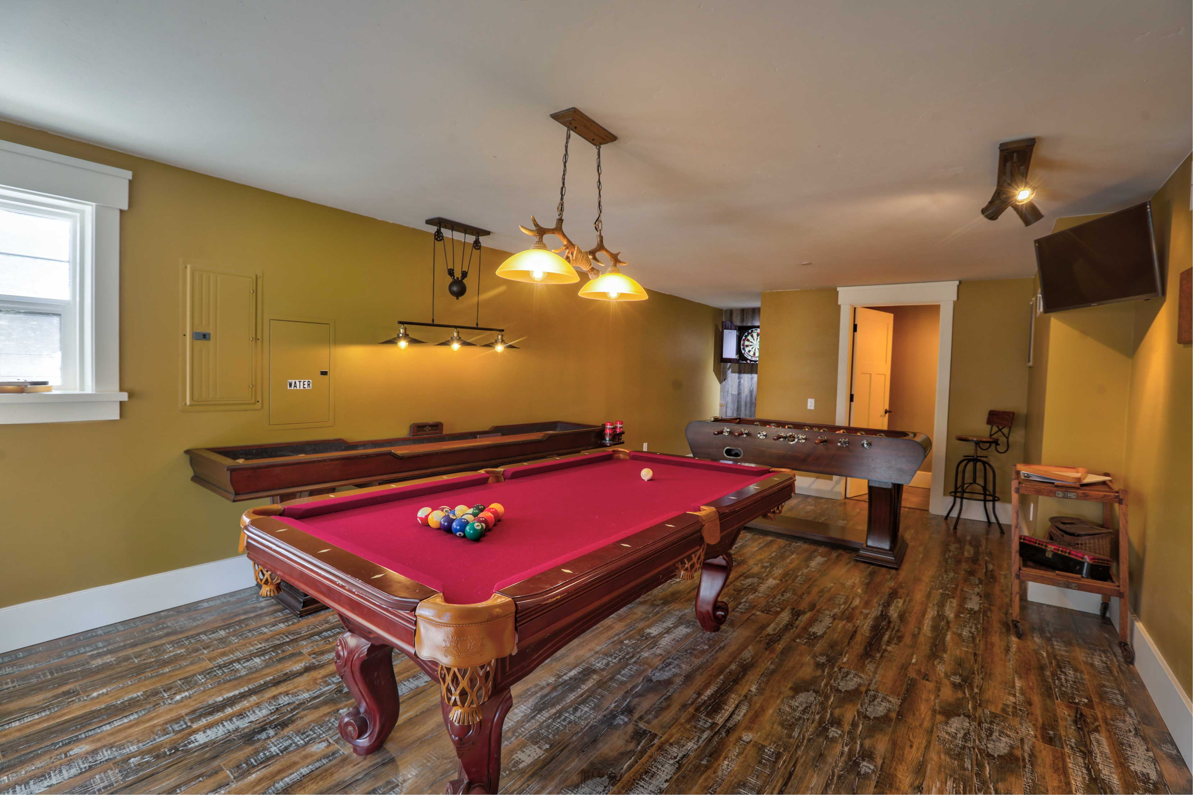 Shoot some pool or pick sides for a foosball tournament.