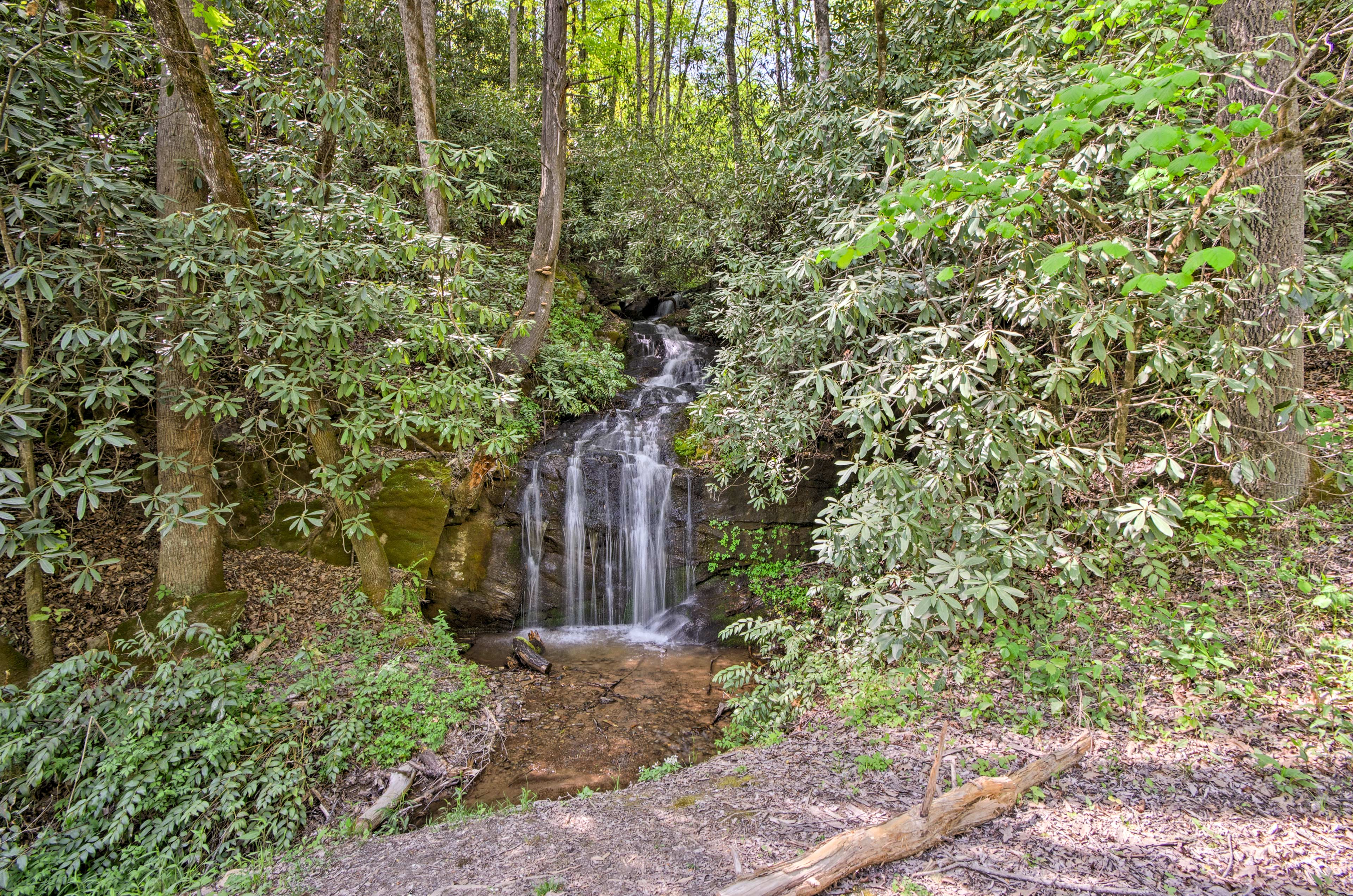 Explore the waterfalls close to the home.