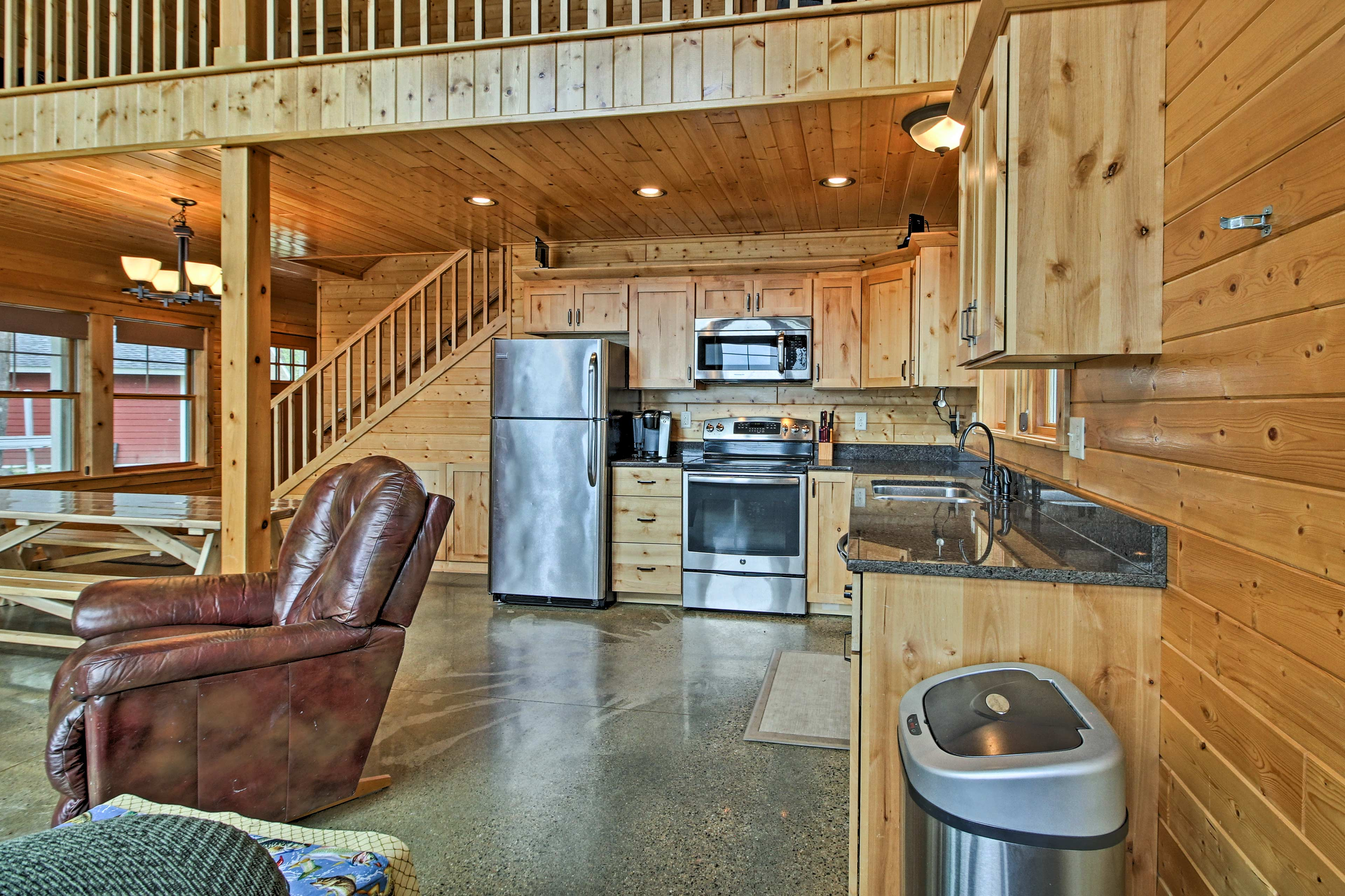 You'll love the rustic wood paneling!