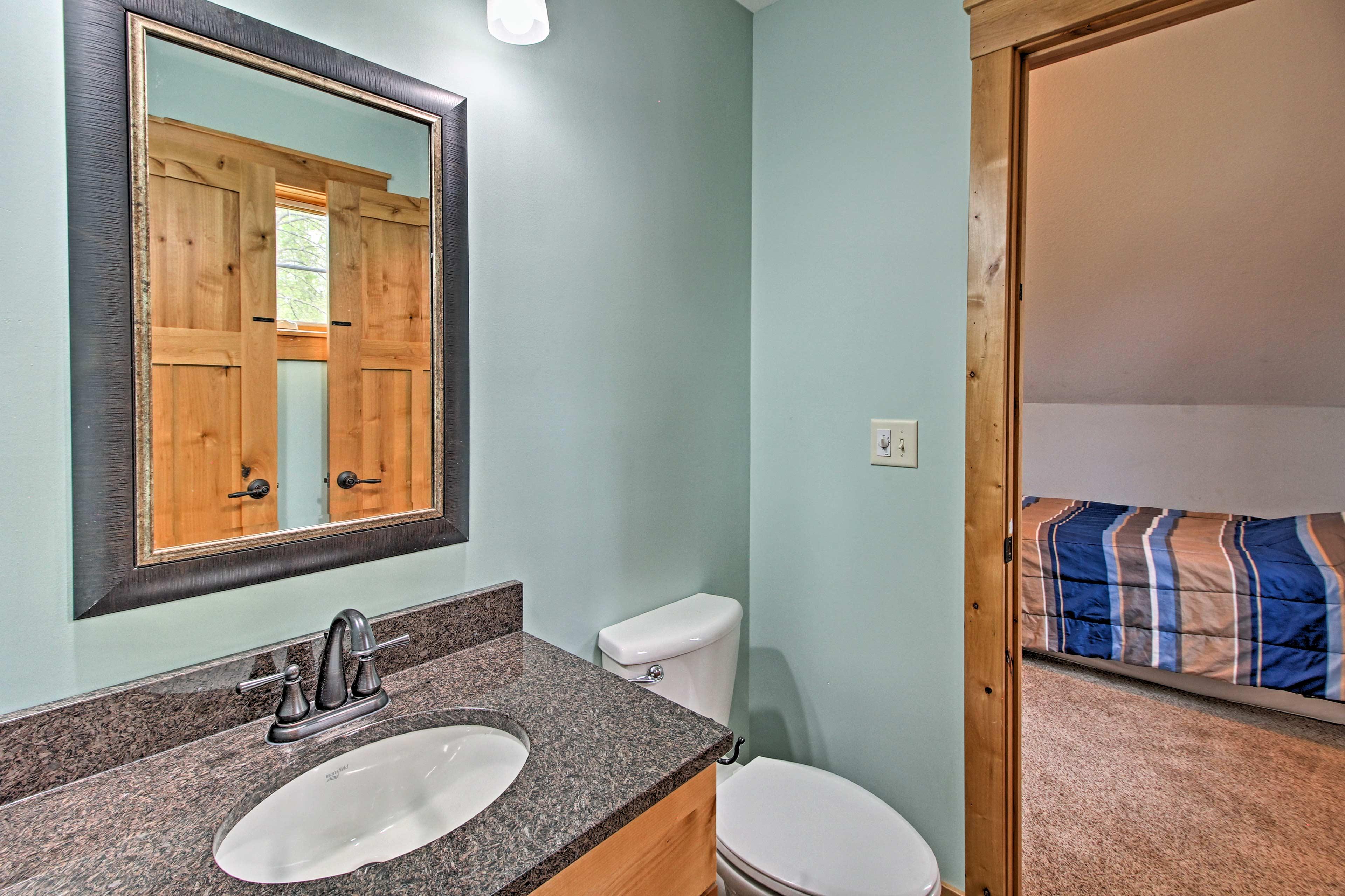 This room has an en-suite bathroom!