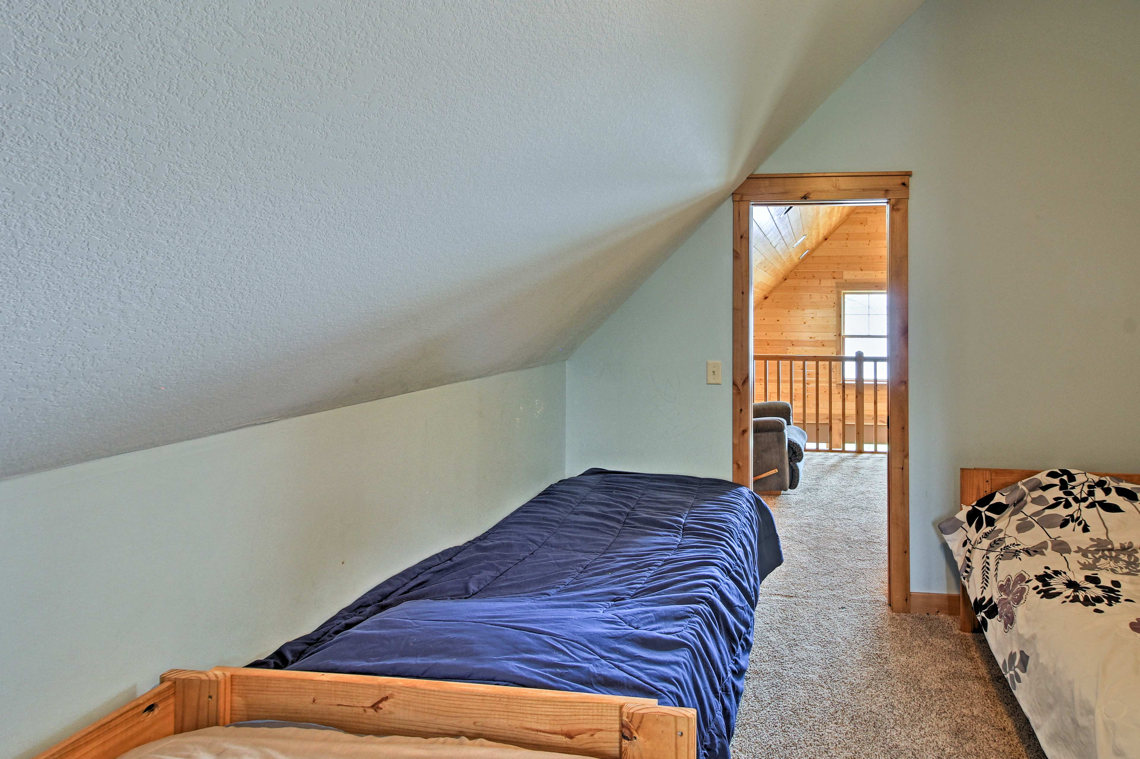 The third bedroom also offers 2 twin beds and a full bed.