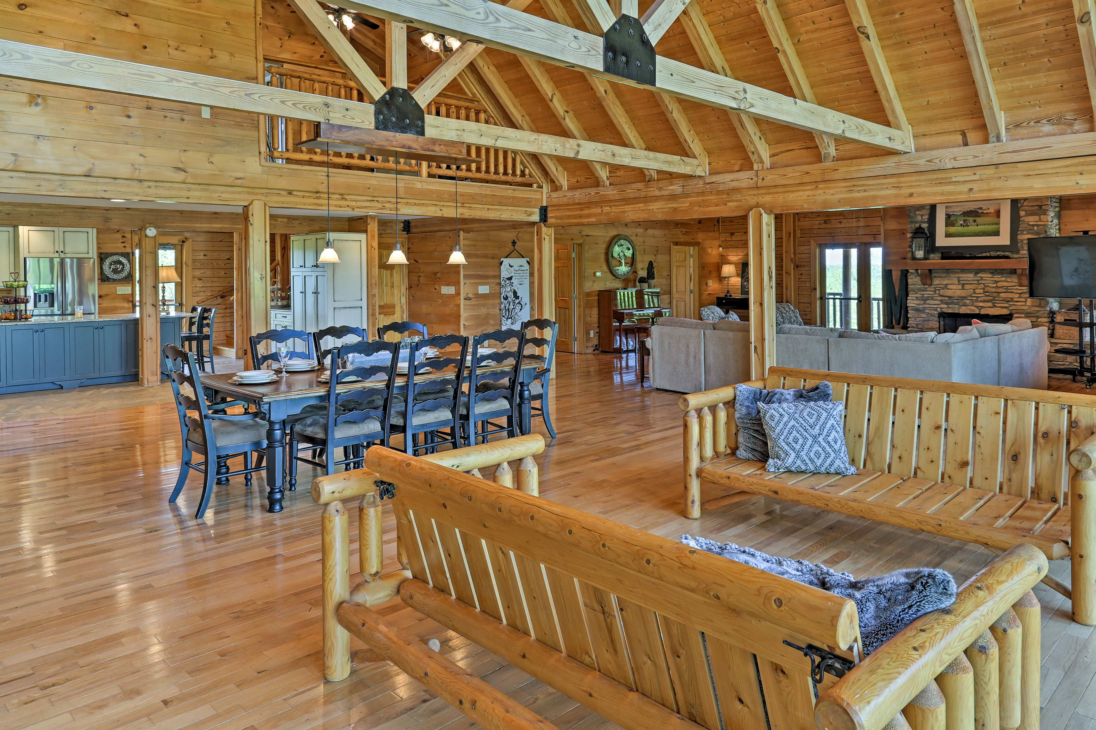 Stunning craftsmanship accentuates the custom interior.