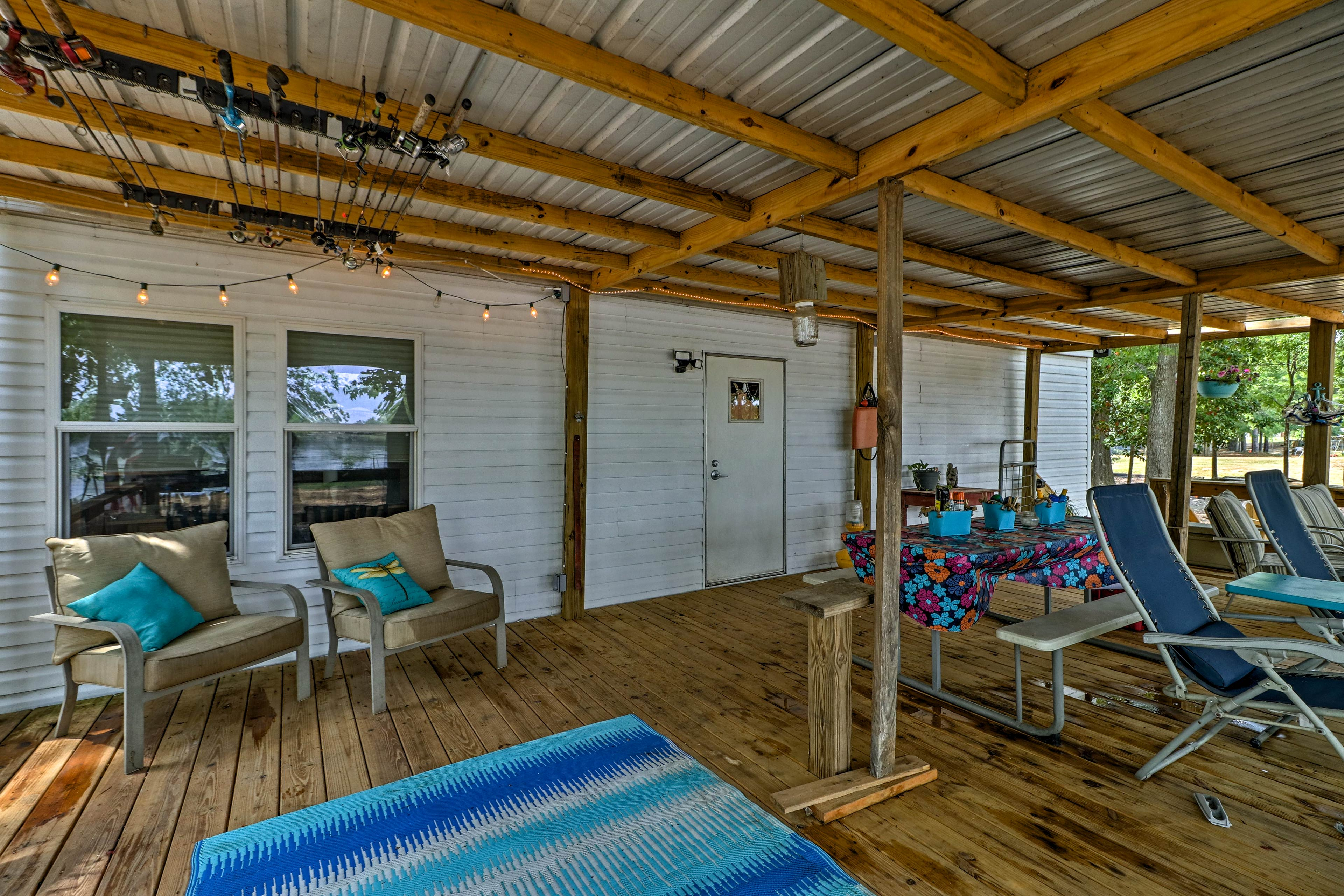 Spend mornings and evenings relaxing on the covered porch!
