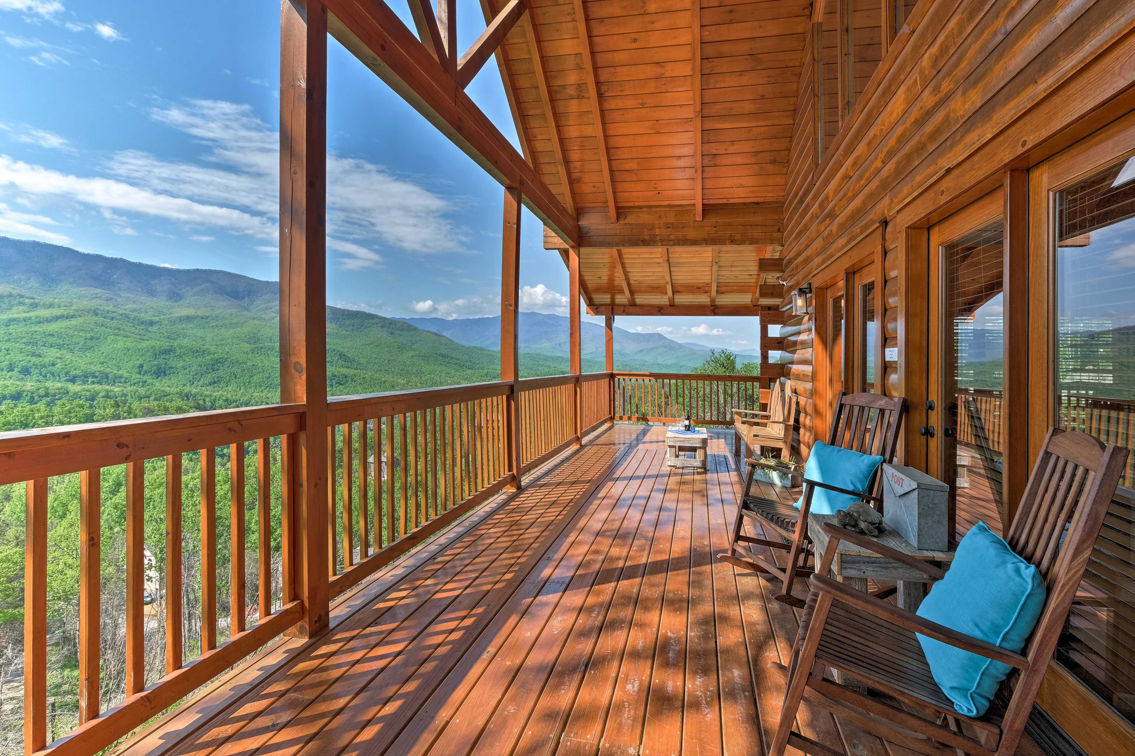 There's no better place to spend your mornings than out on the deck!