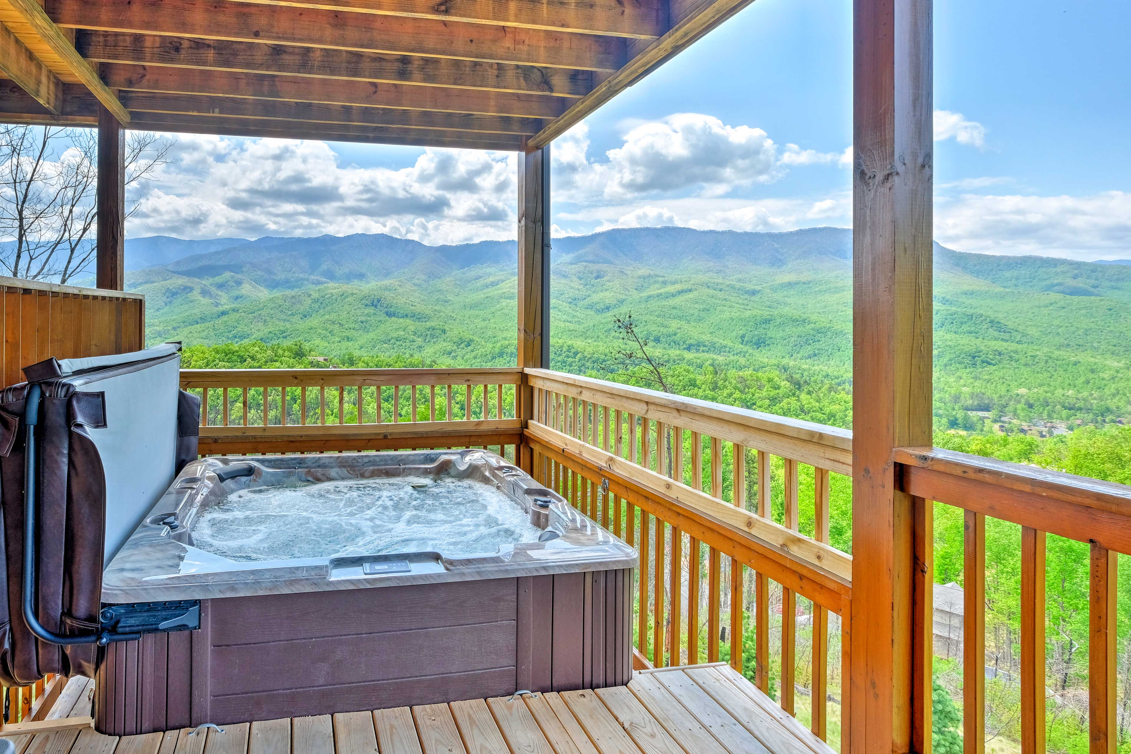 Bring your swimsuit and be sure to take a dip in the hot tub!