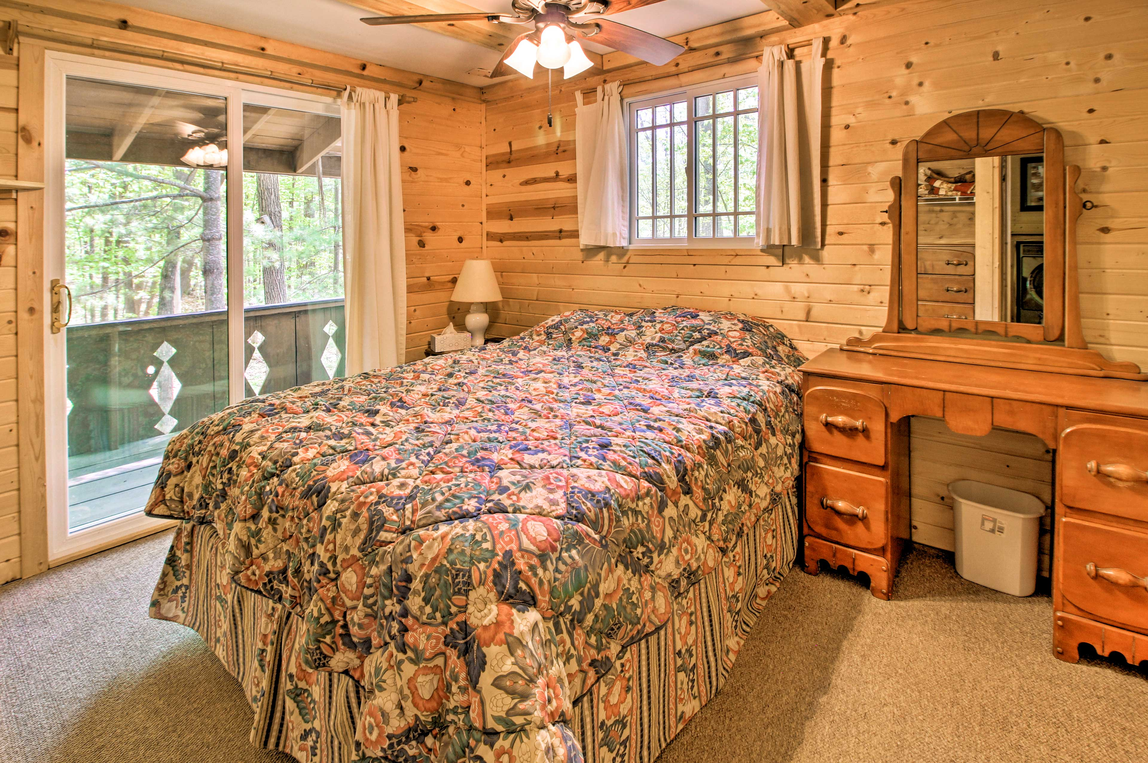 Perfect for couples, this room houses a queen bed.