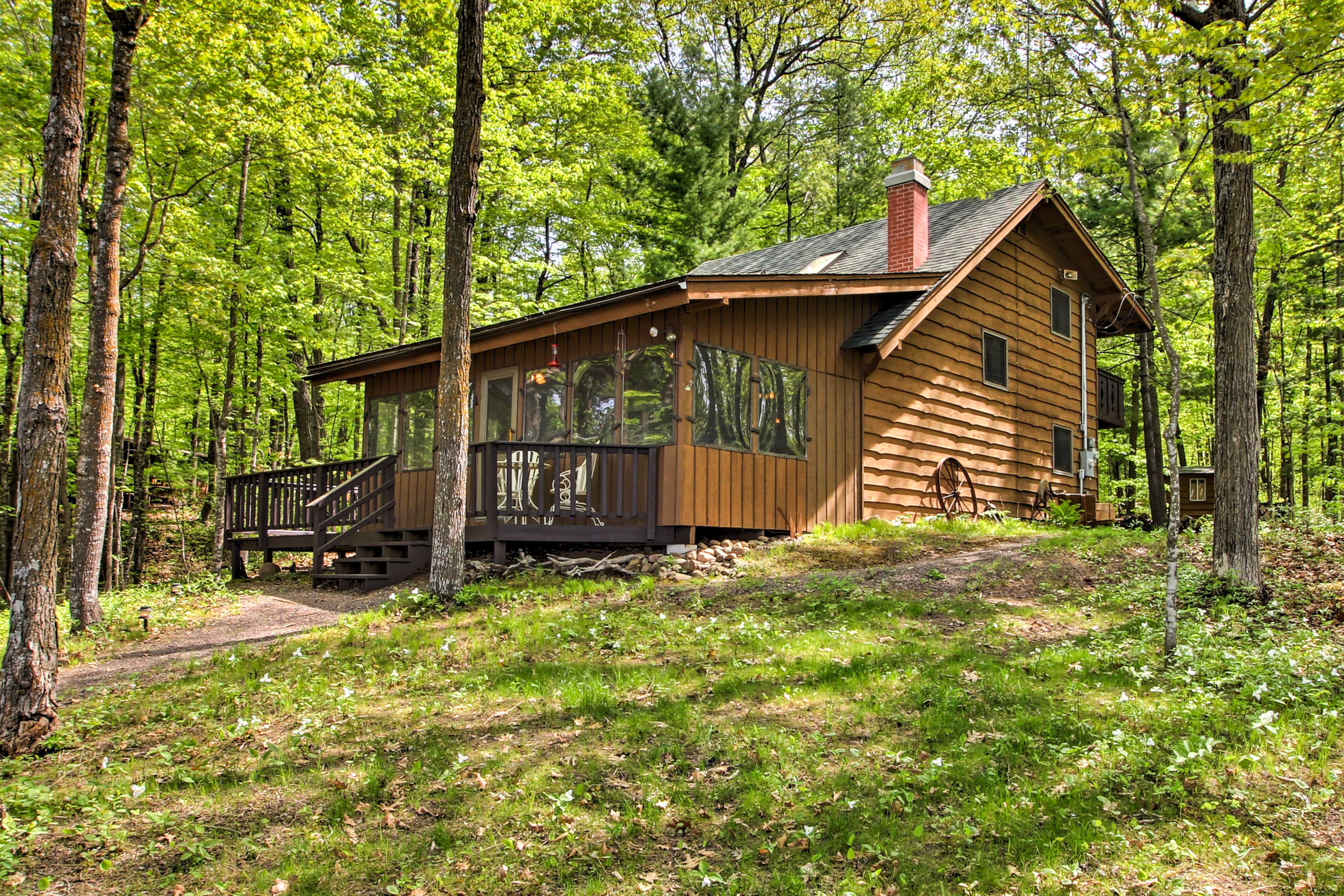 Just steps from the lake, this home is an outdoorsman's paradise.