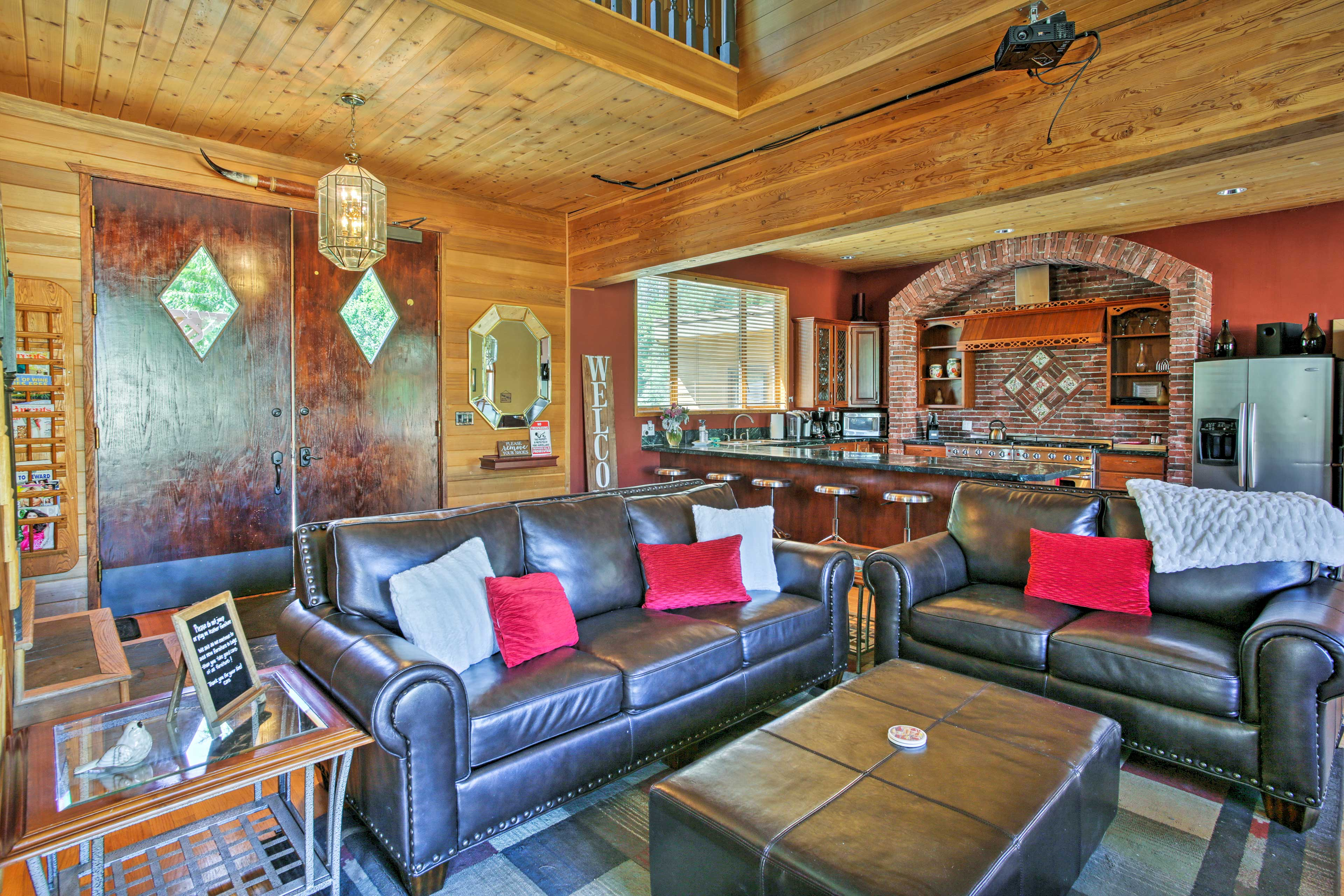 The house features 6,654 square feet of comfort for you to enjoy together.