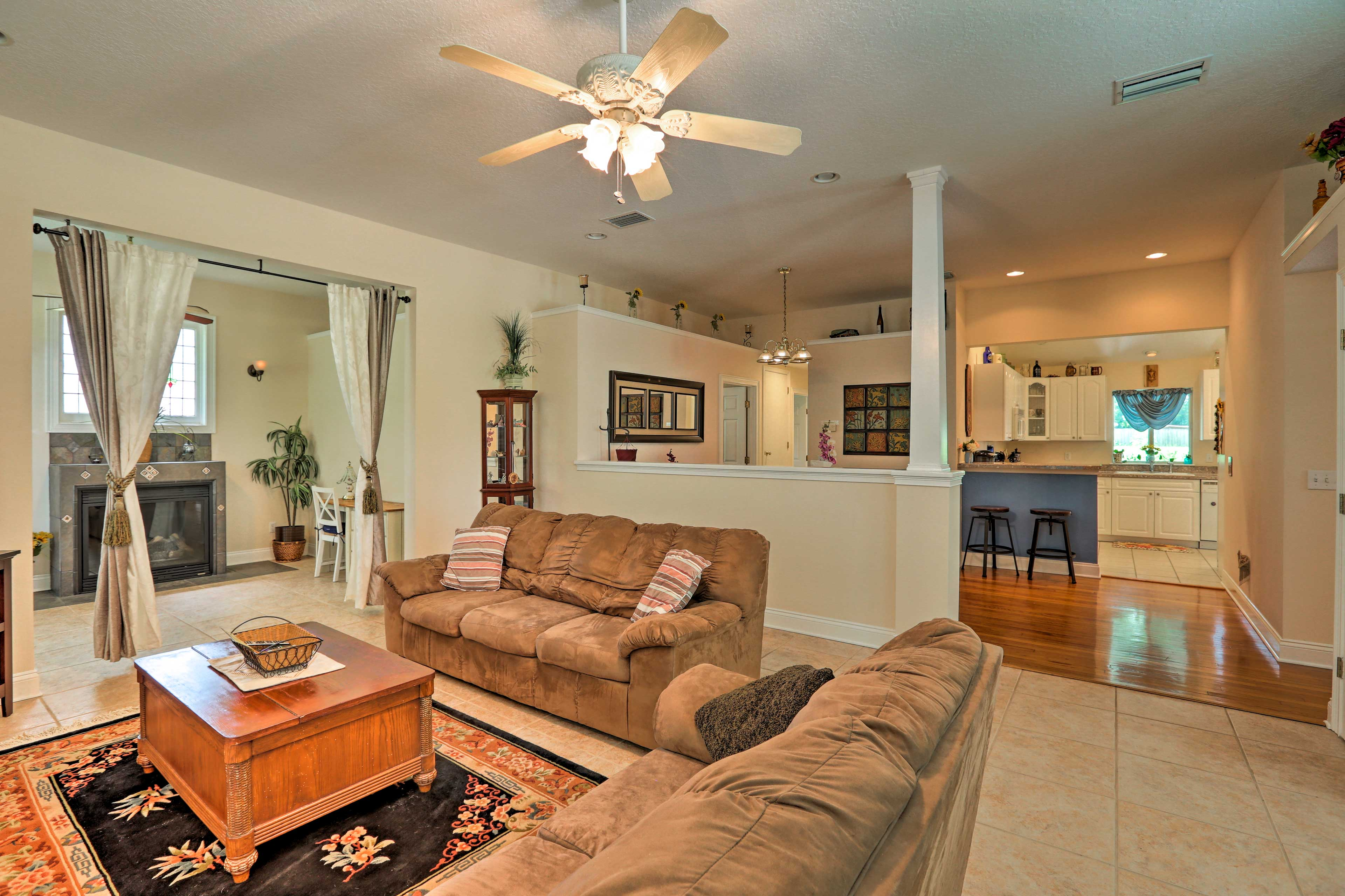 This 3-bed, 2-bath vacation rental sleeps up to 5 guests.
