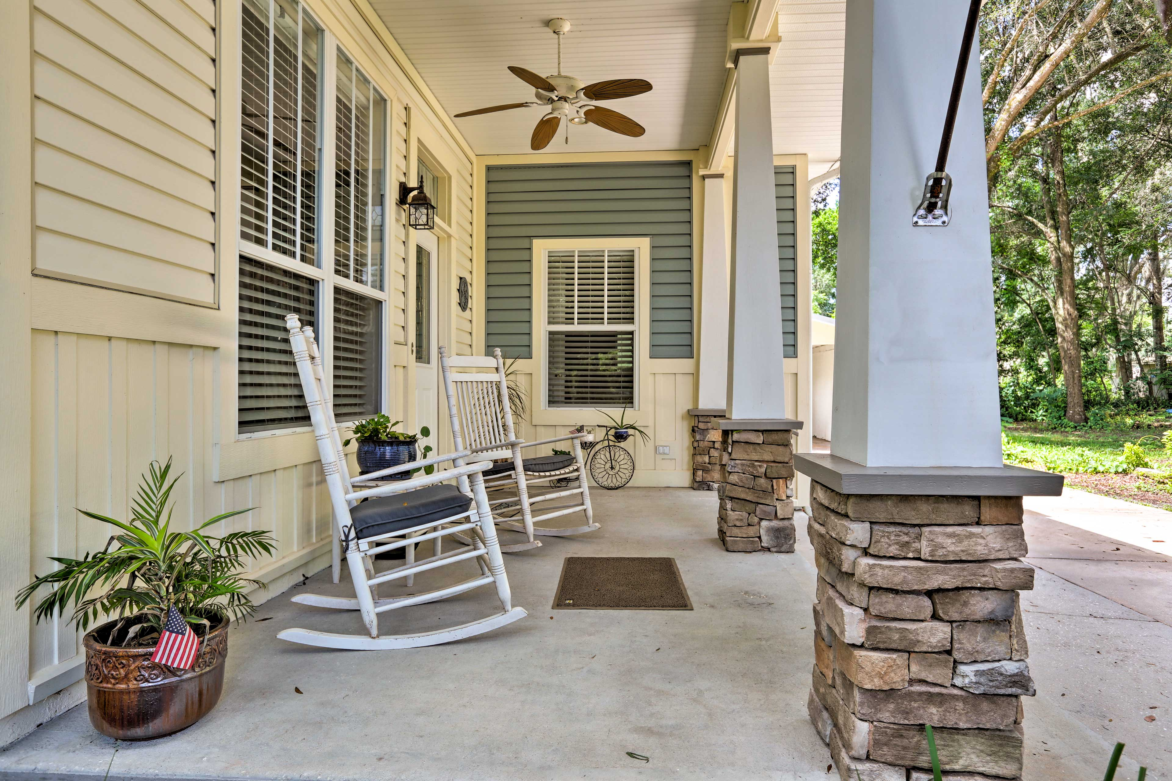 Rock on the front porch and enjoy the lake view.