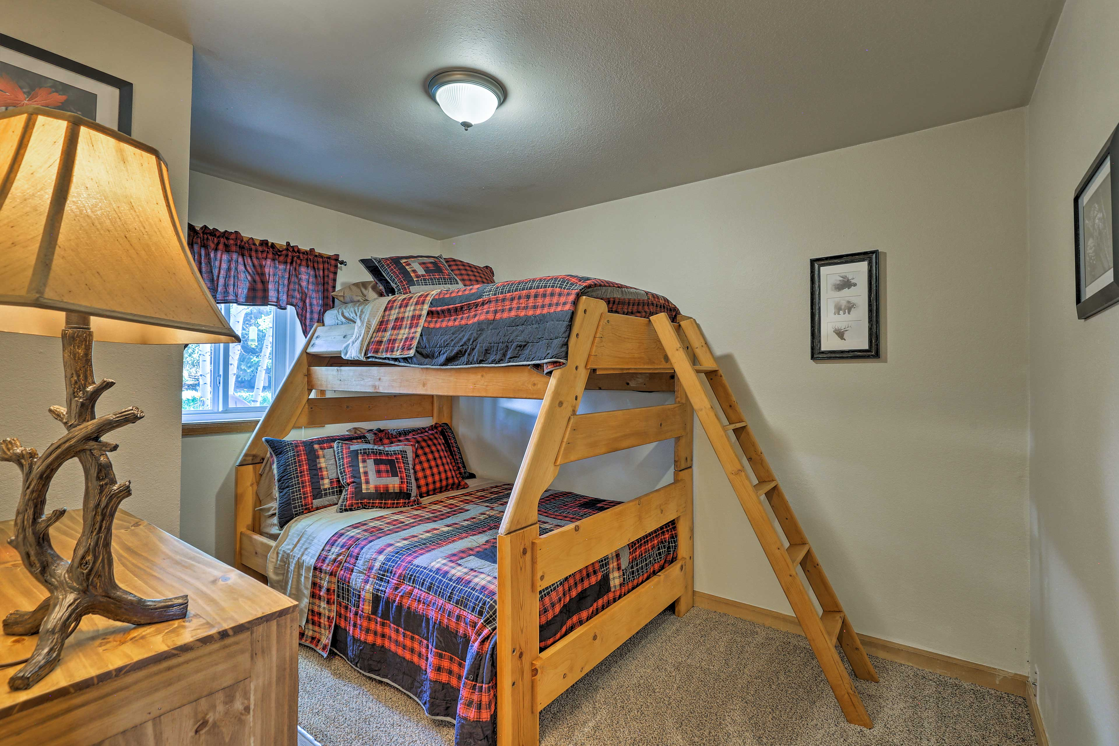 Kids will love the twin-over-full bunk bed.