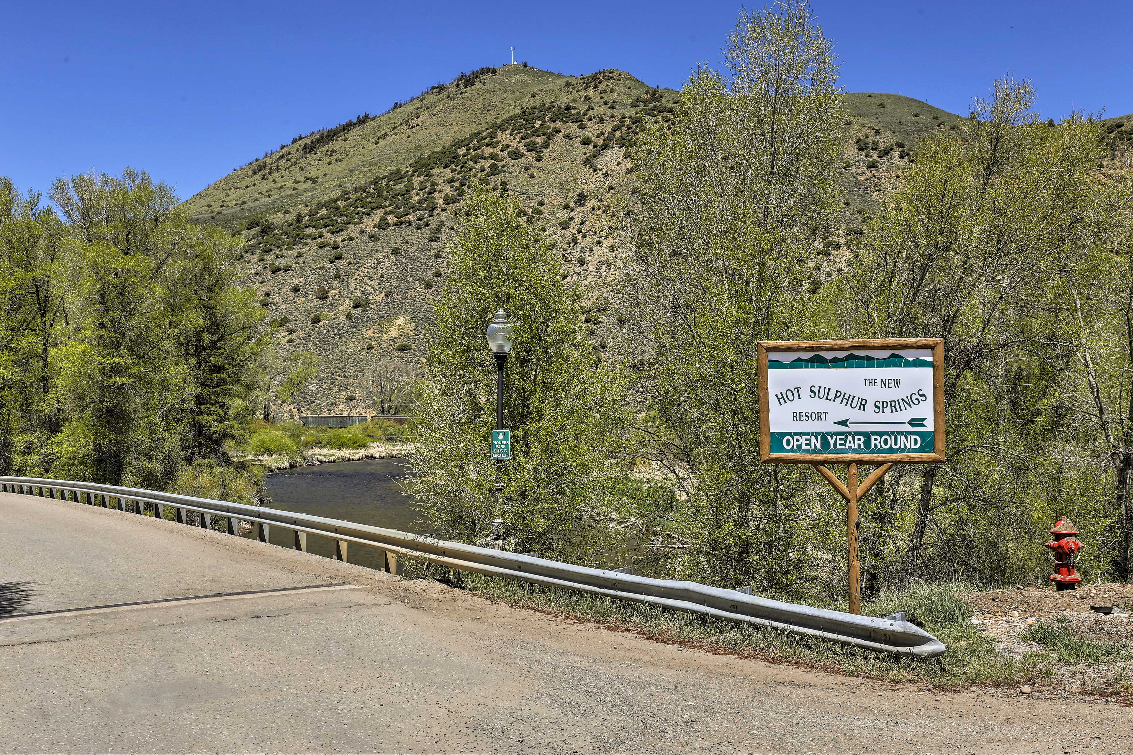 A 10-minute stroll will bring you to the natural hot springs.