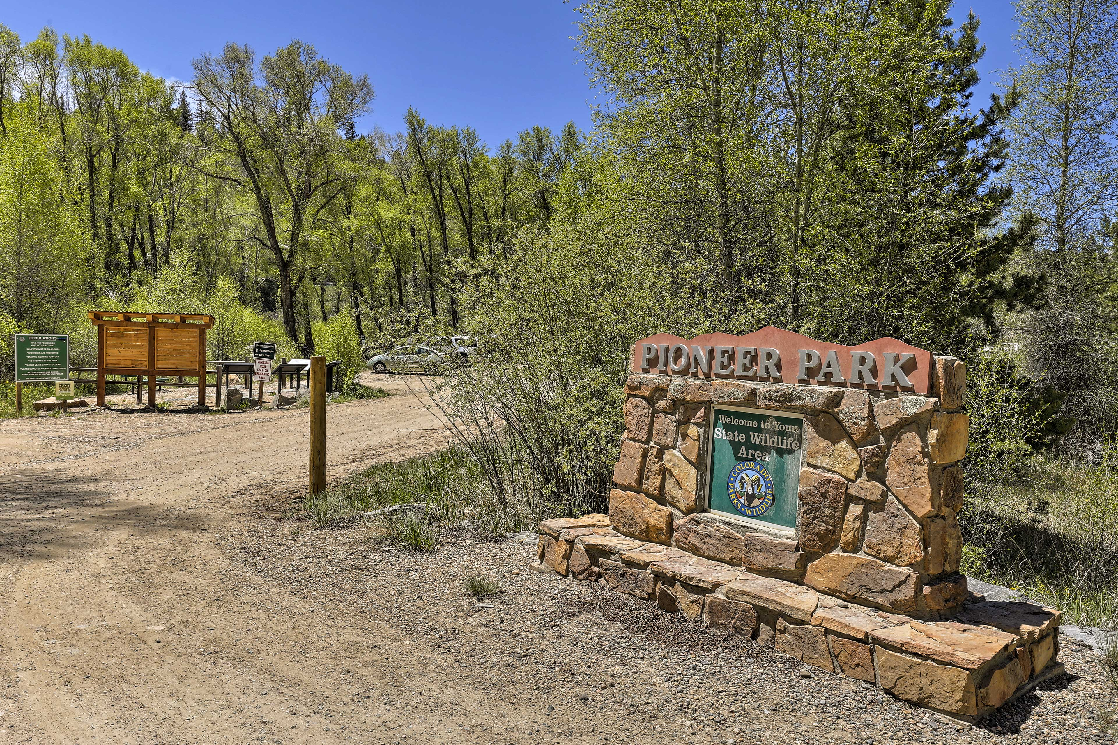 Explore nature at Pioneer Park, 5 minutes from the cottage.