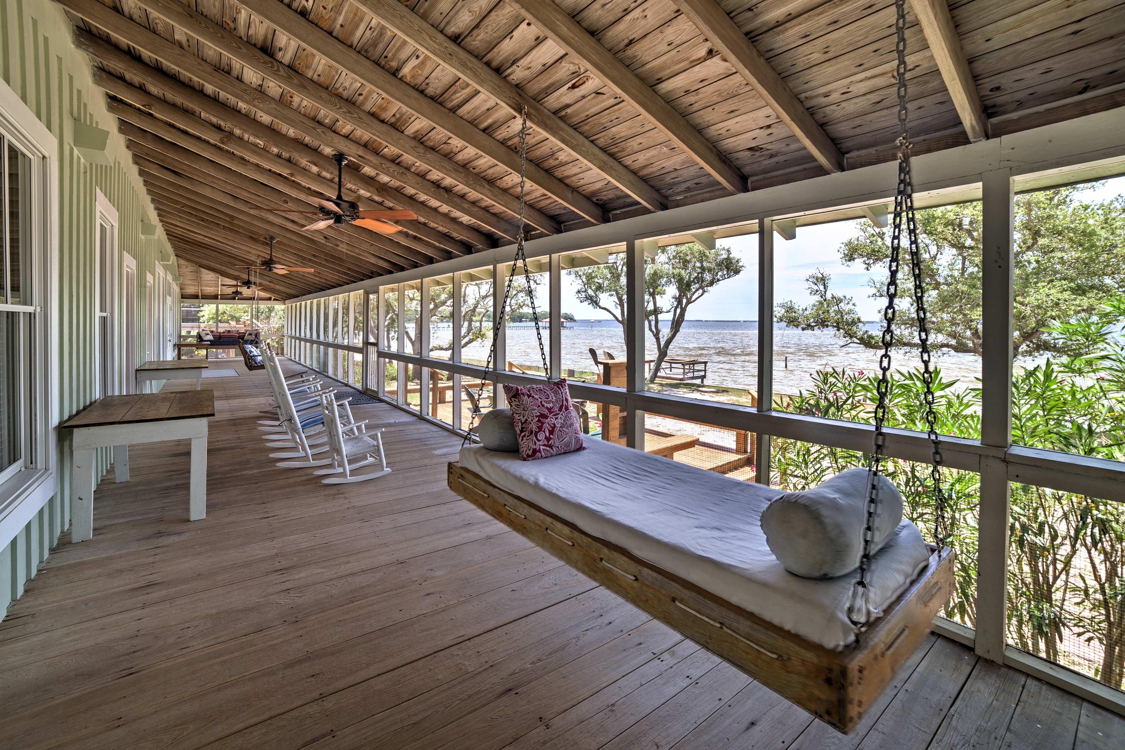 Enjoy beautiful bay views and new updates at this Perdido Beach vacation rental!