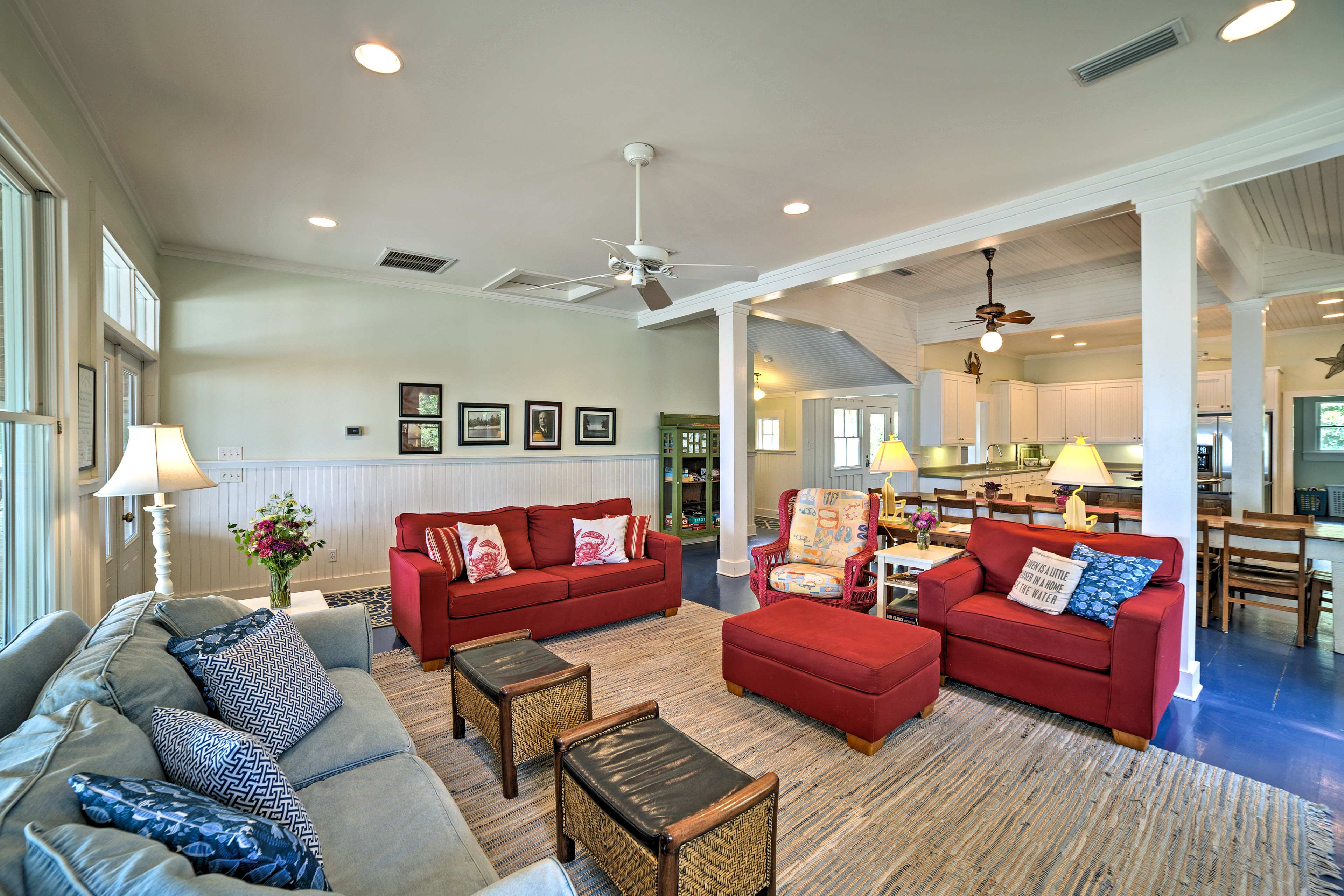 The 5-bedroom, 4.5-bath living space was completely renovated in 2008.