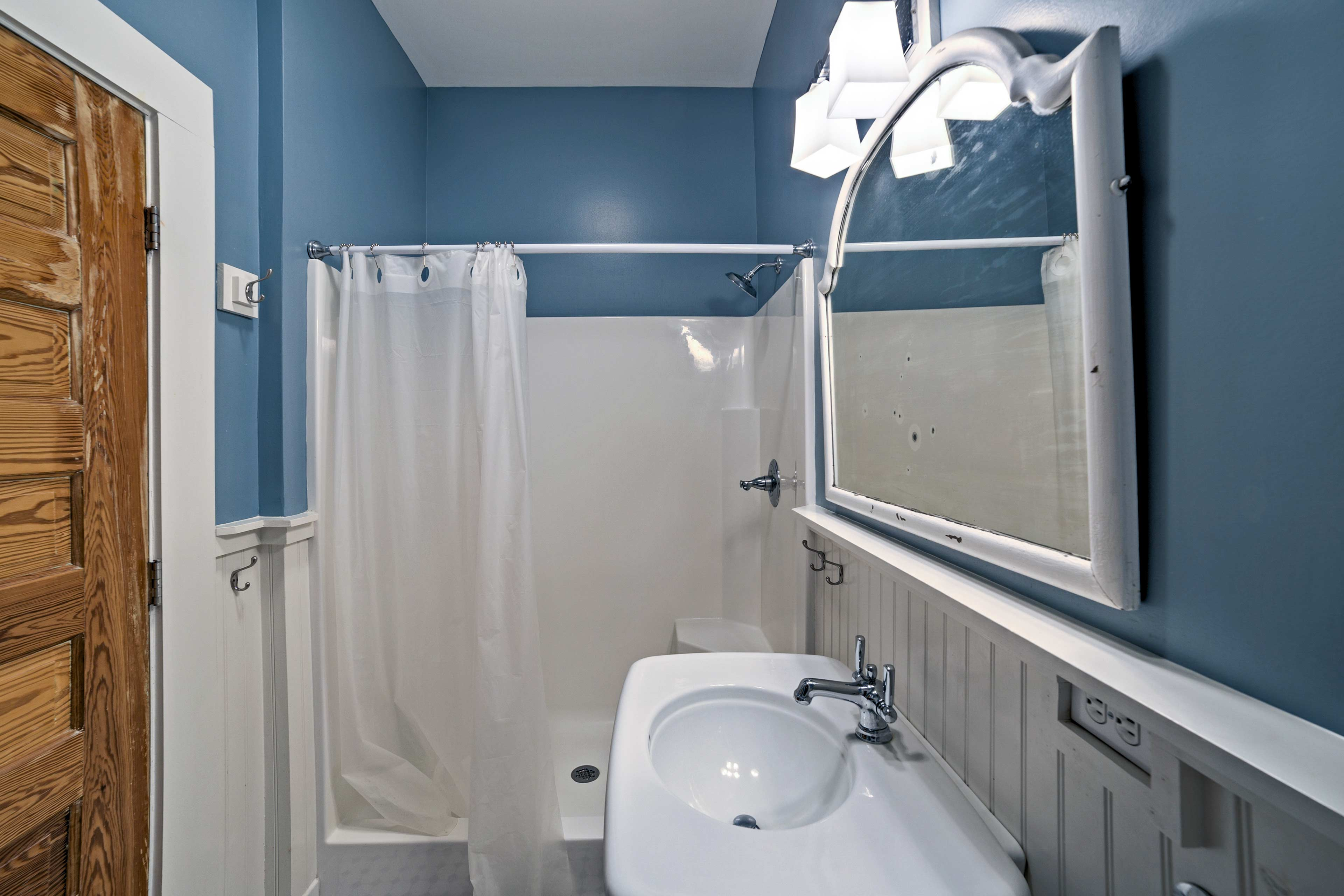 Relax with a shower or soak in the tub.