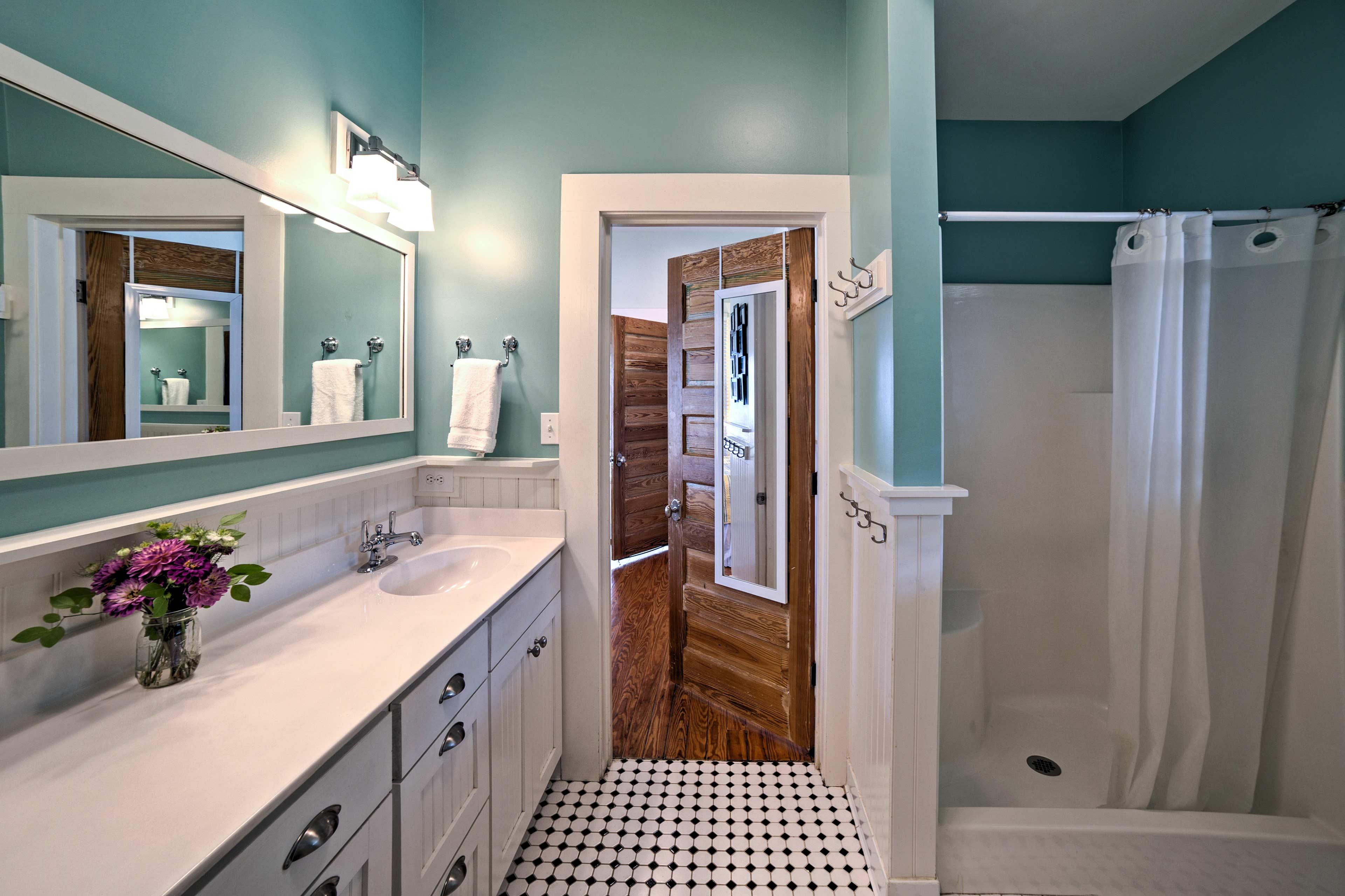 Each bathroom includes pristine updates!