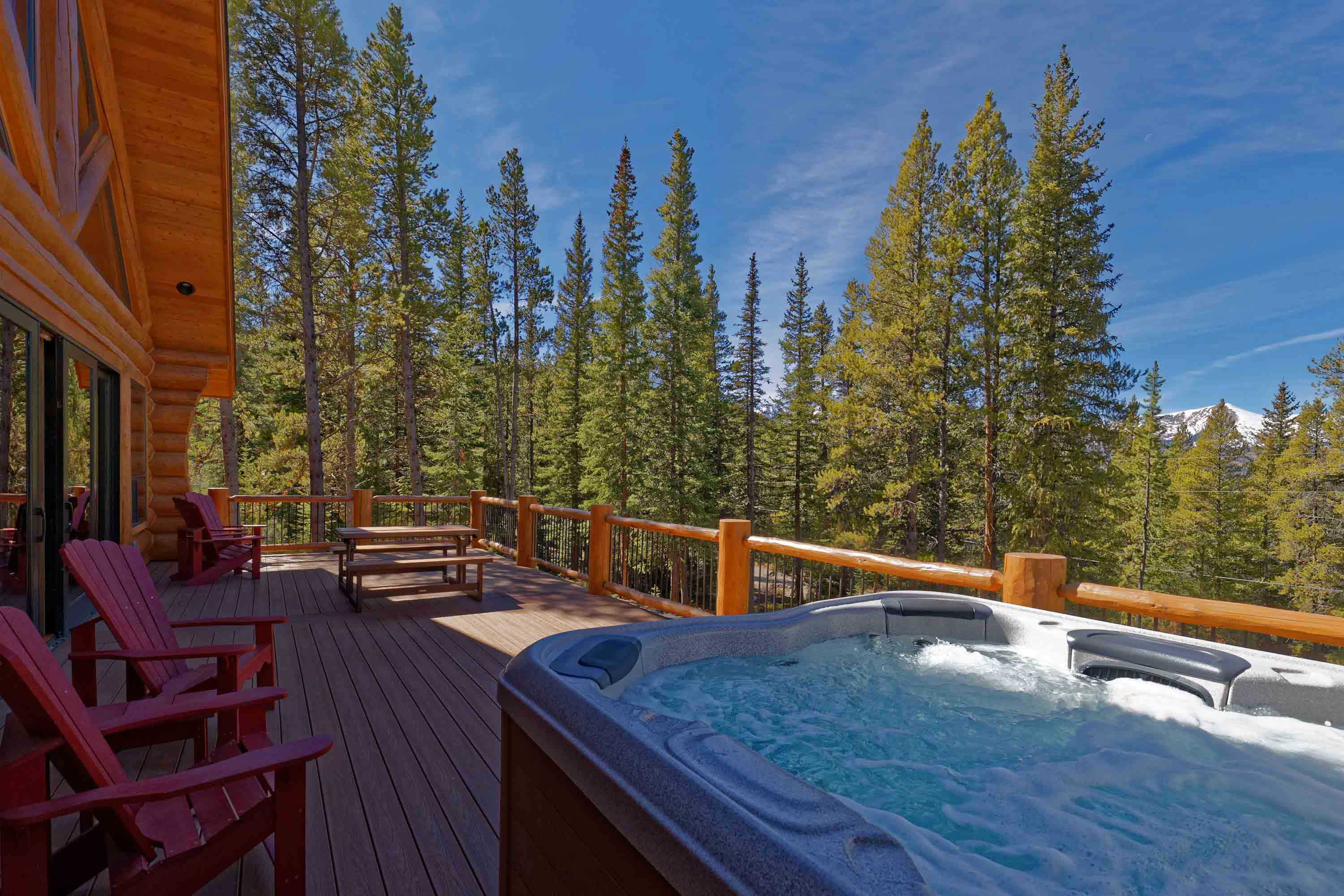 With a hot tub, mountain views, and more, this home for 8 can't be beaten.