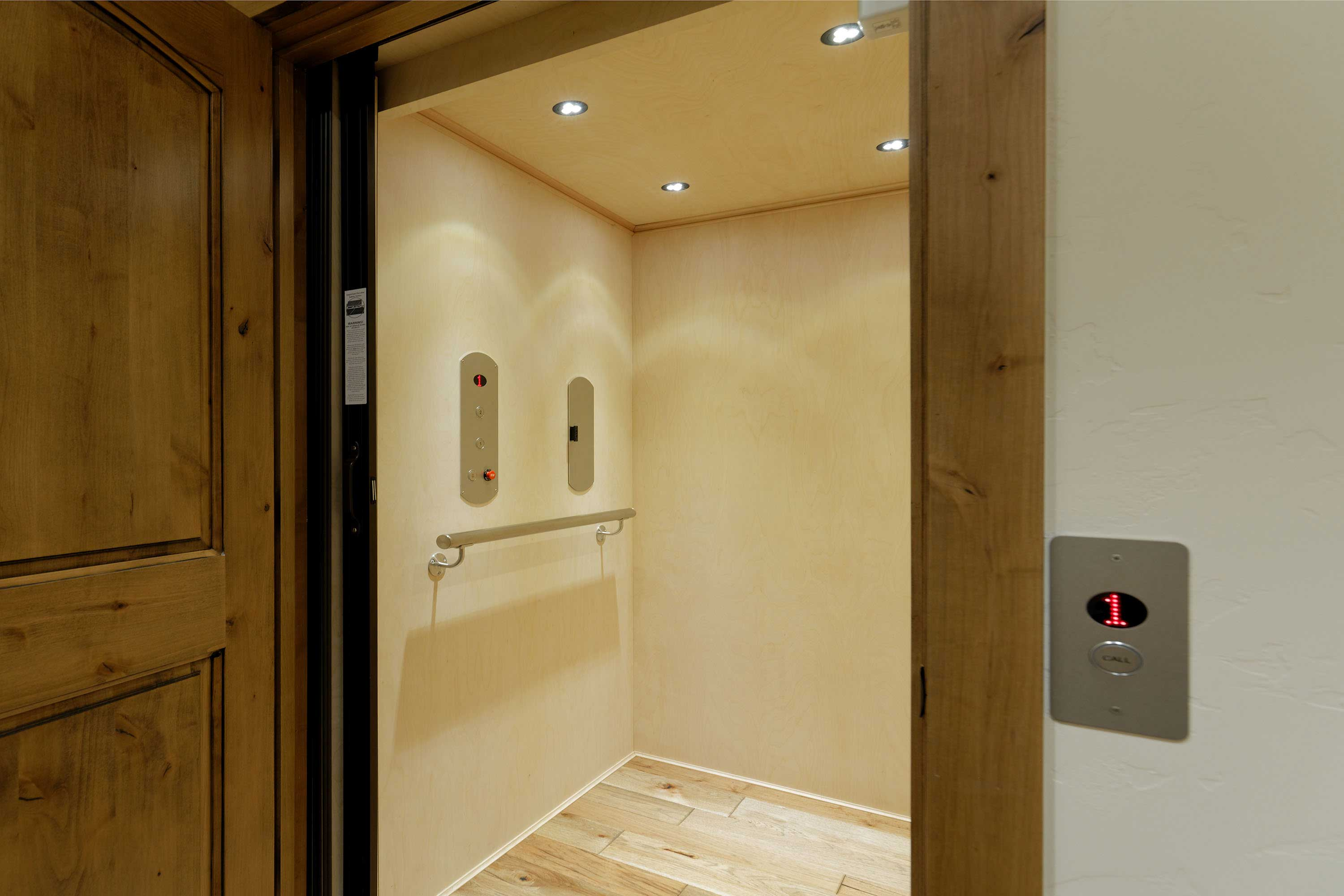 Thanks to the elevator, this home is wheelchair friendly.